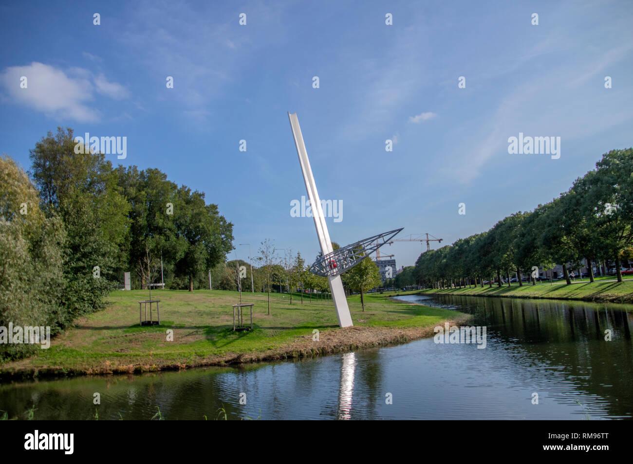 Zonder Titel di cotta statua a Amsterdam Paesi Bassi 2018 Immagini Stock
