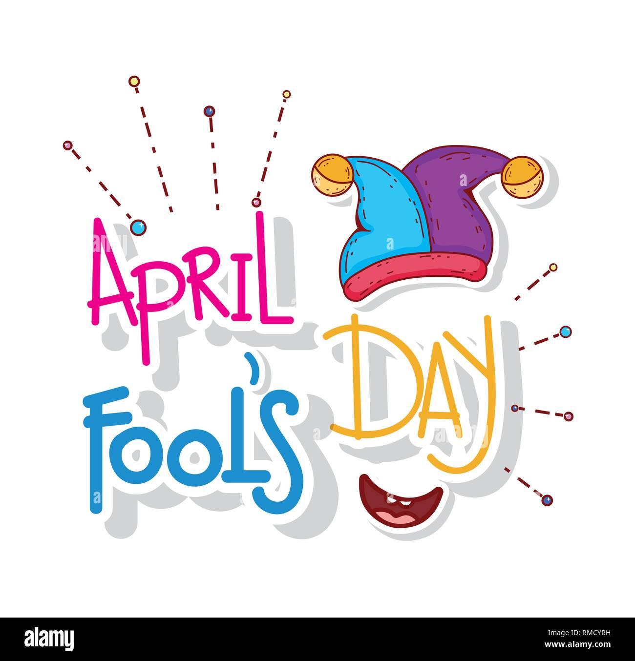 Jester hat per il giorno di sciocchi di aprile Immagini Stock a3144bfa8cb0