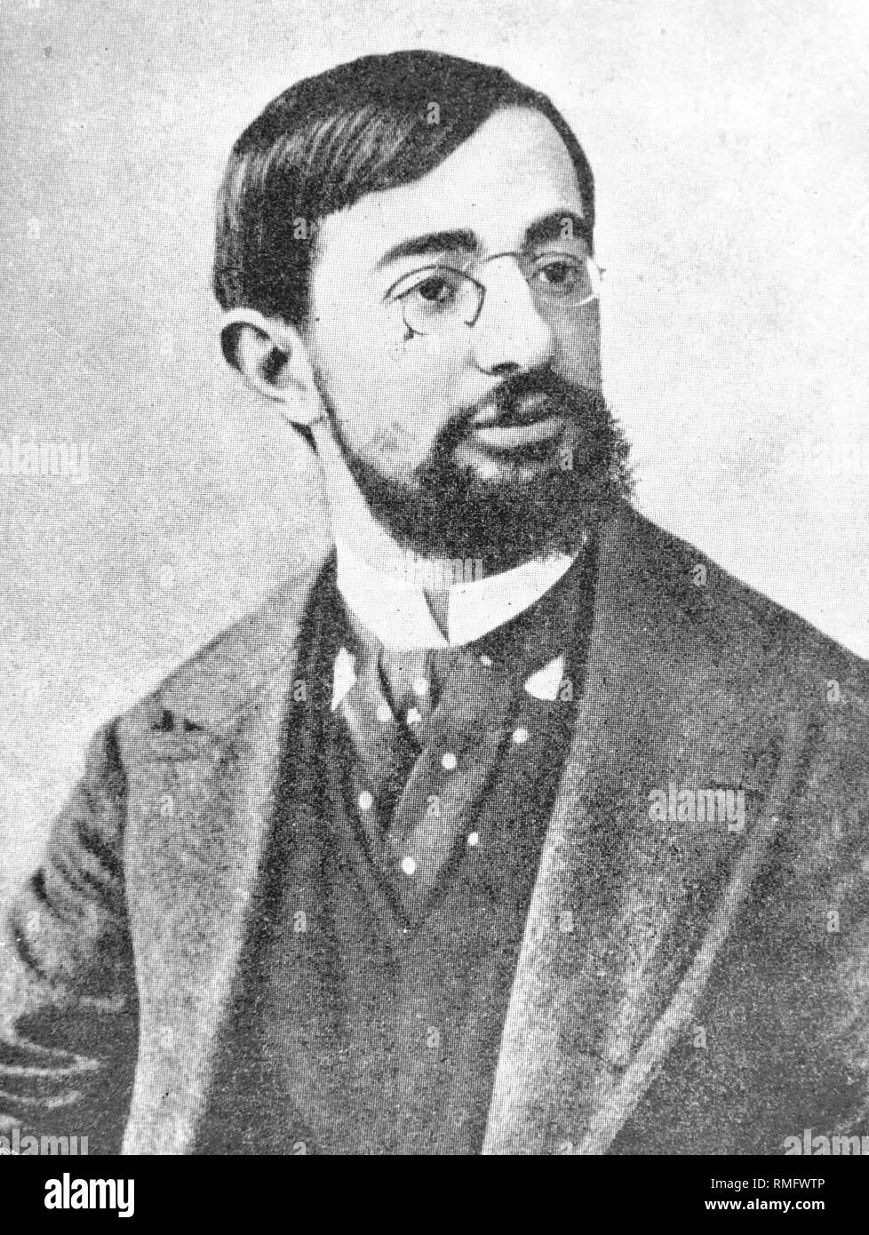 Henri de Toulouse-Lautrec, Francese pittore e grafico (b. 24.11.1864, d. 09.09.1901). Egli ha preso i suoi motivi dalla vita notturna di Parigi Montmartre. Foto Stock