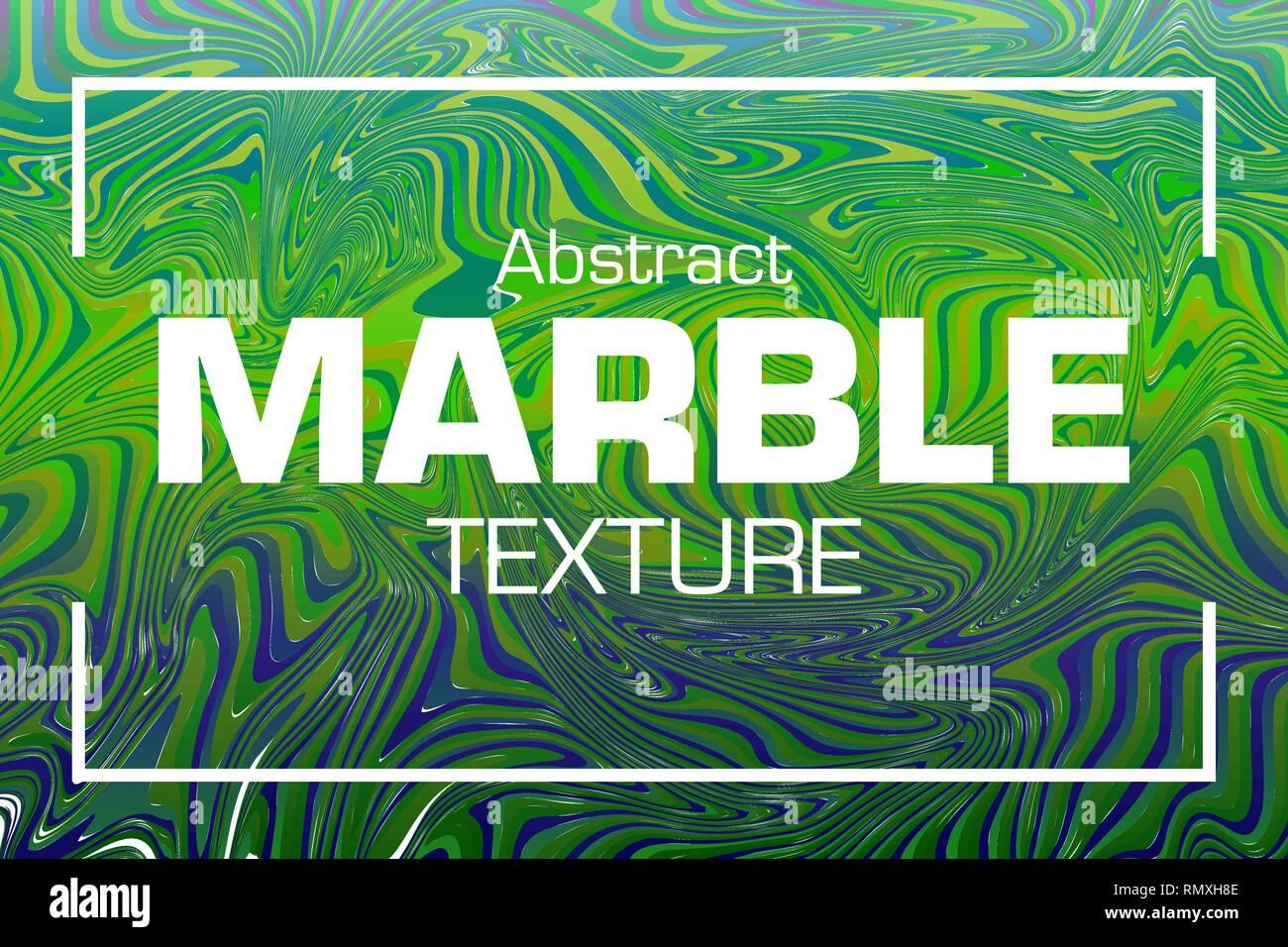 Vettore Di Texture In Marmo Lo Sfondo In Verde E Blu Illustrazione