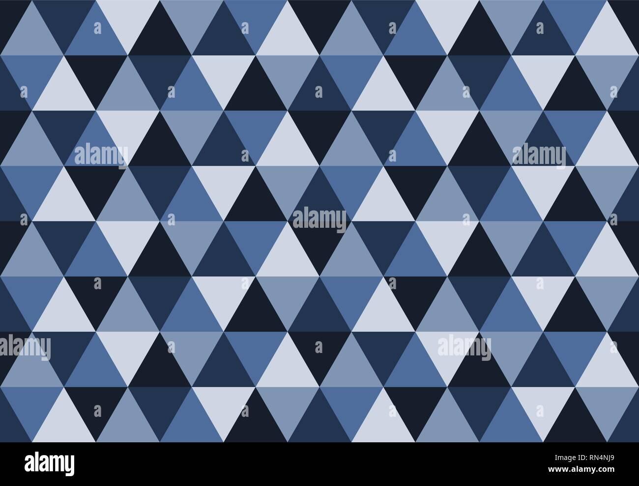 Triangolare Pattern Seamlesslow Poly Sfondo Geometricoblu E Grigio