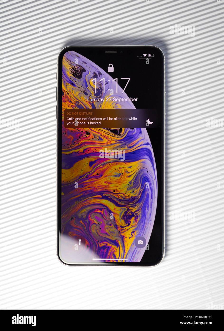Parigi Francia 27 Settembre 2018 Nuovo Iphone Xs Max Modello