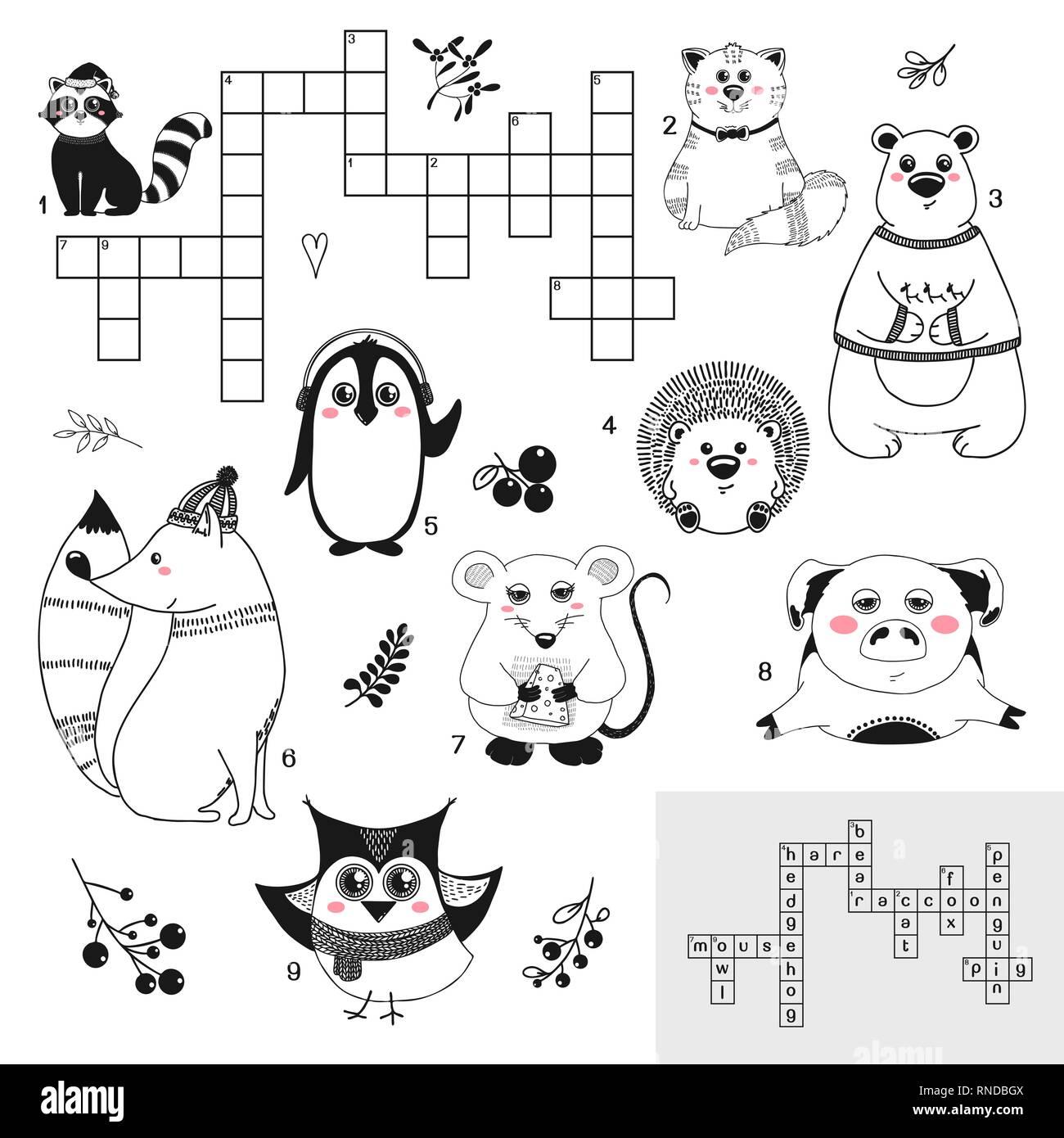 Illustration Game Children Crossword Immagini Illustration Game