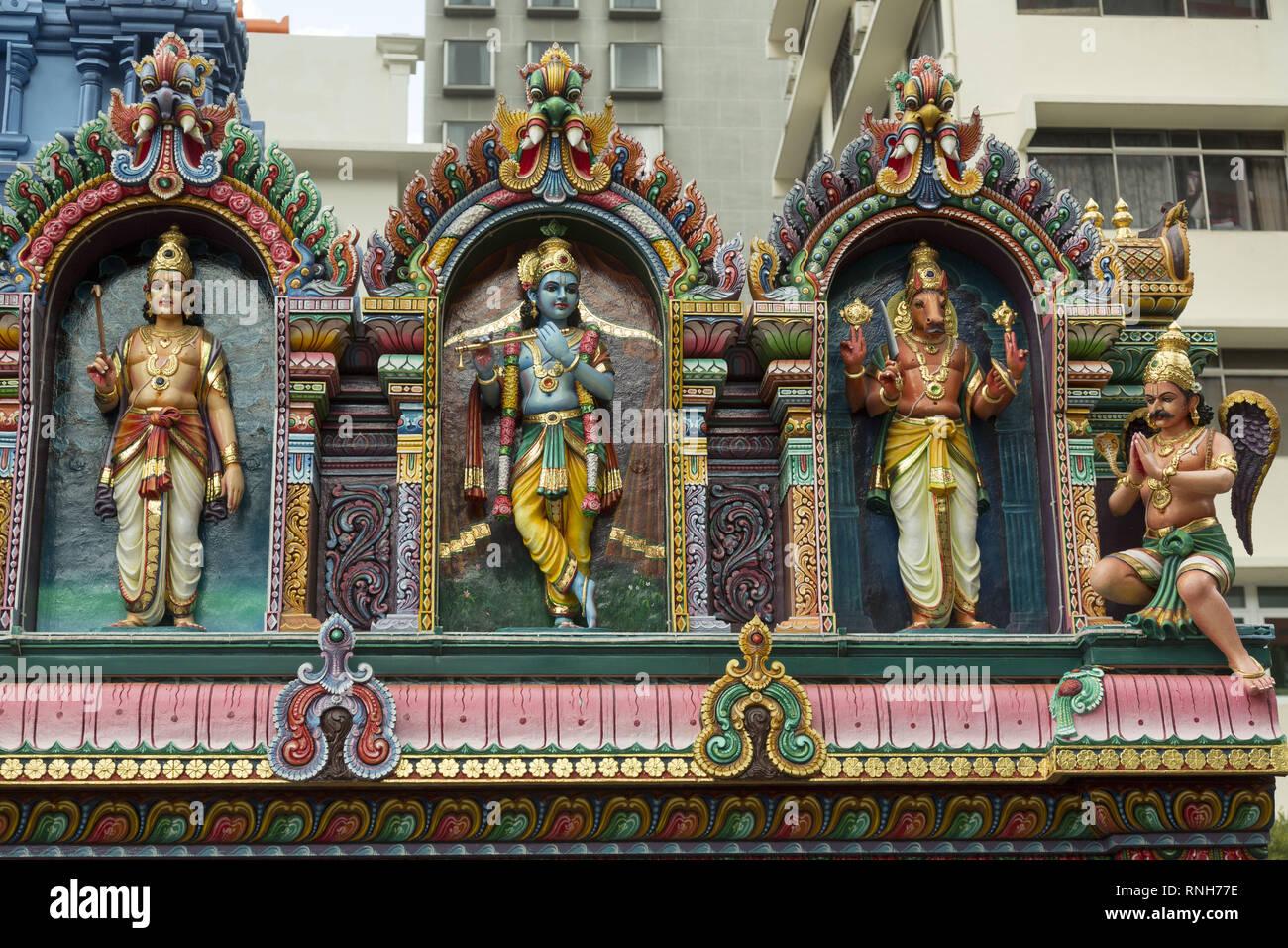 Tempio indù di Singapore Immagini Stock