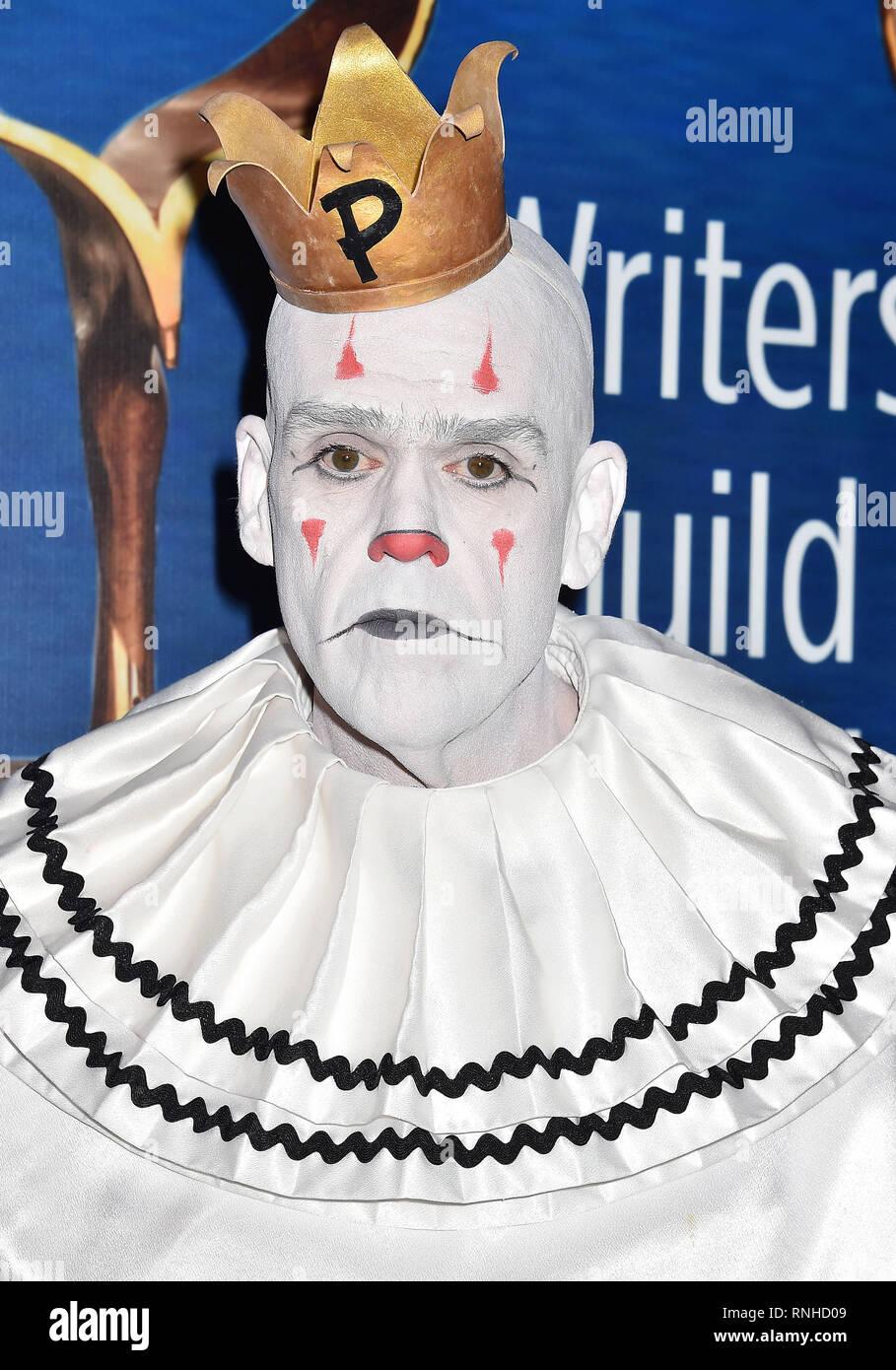 BEVERLY HILLS, CA - 17 febbraio: pozzanghere peccato parte assiste il 2019 Writers Guild Awards L.A. Cerimonia presso il Beverly Hilton Hotel il 17 febbraio 20 Immagini Stock