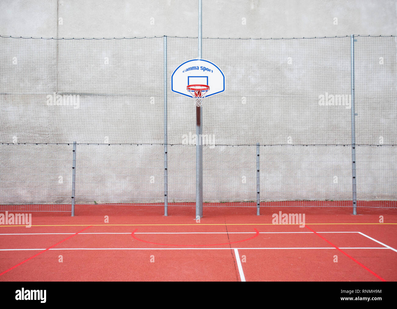 Campo di gioco: basket lavagna bianca Immagini Stock