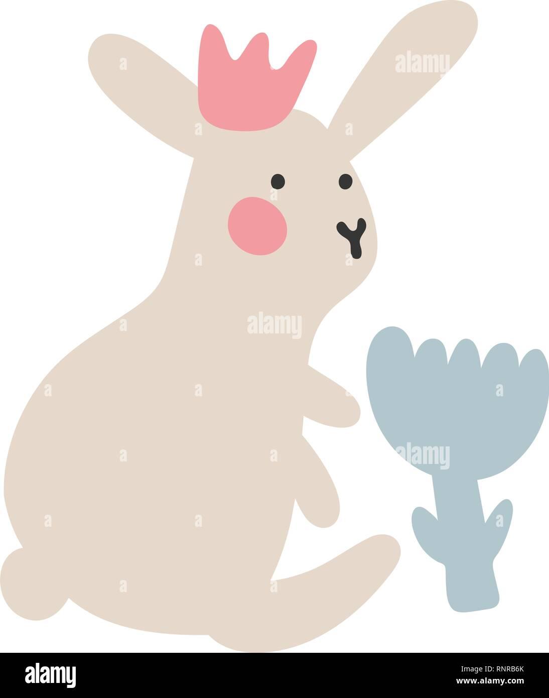 Quadro su tela vector seamless con contorno di pasqua conigli
