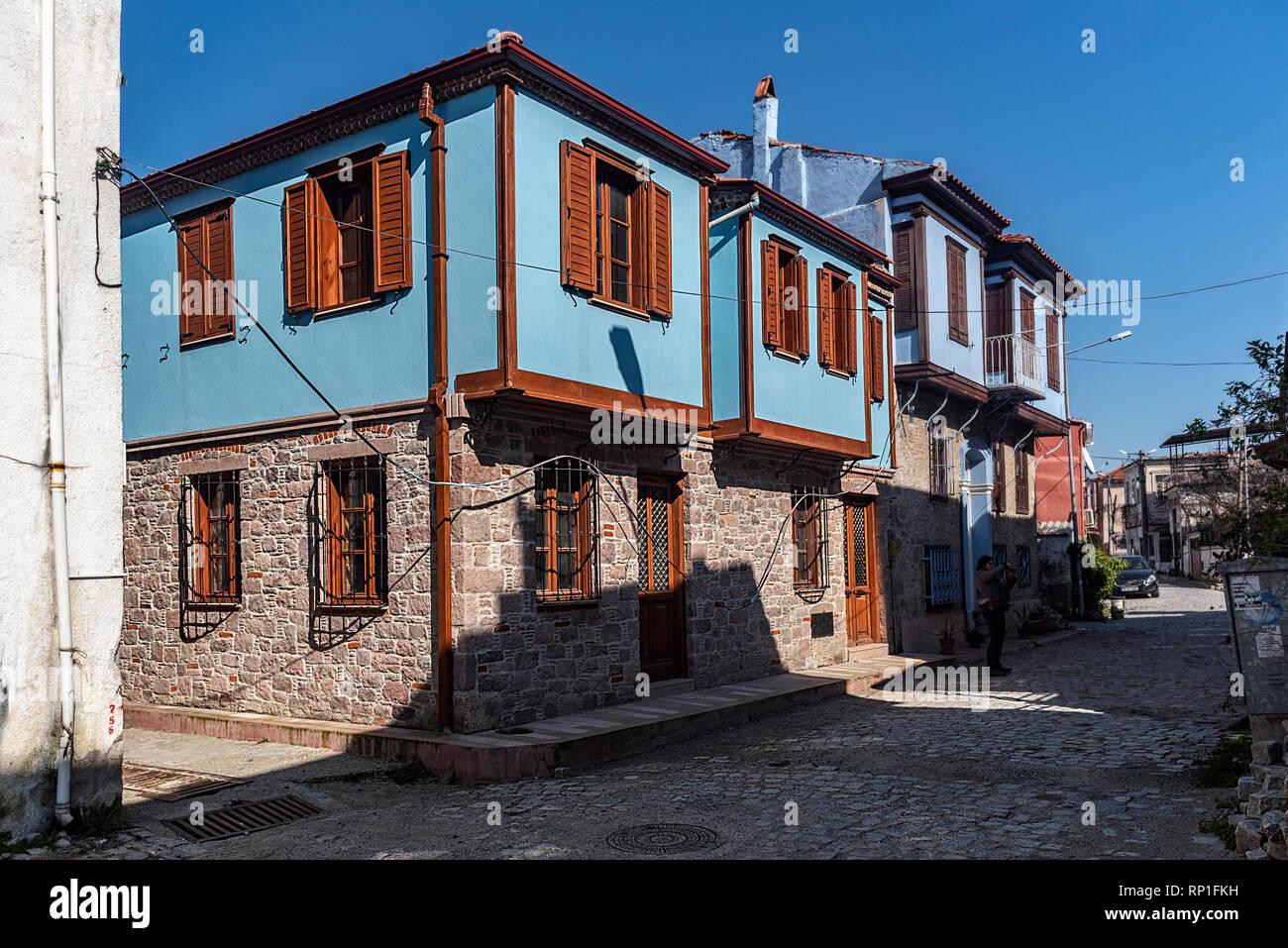 Distretto nel Mare Egeo costa, è uno della Turchia ai più importanti centri del turismo. Foto Stock