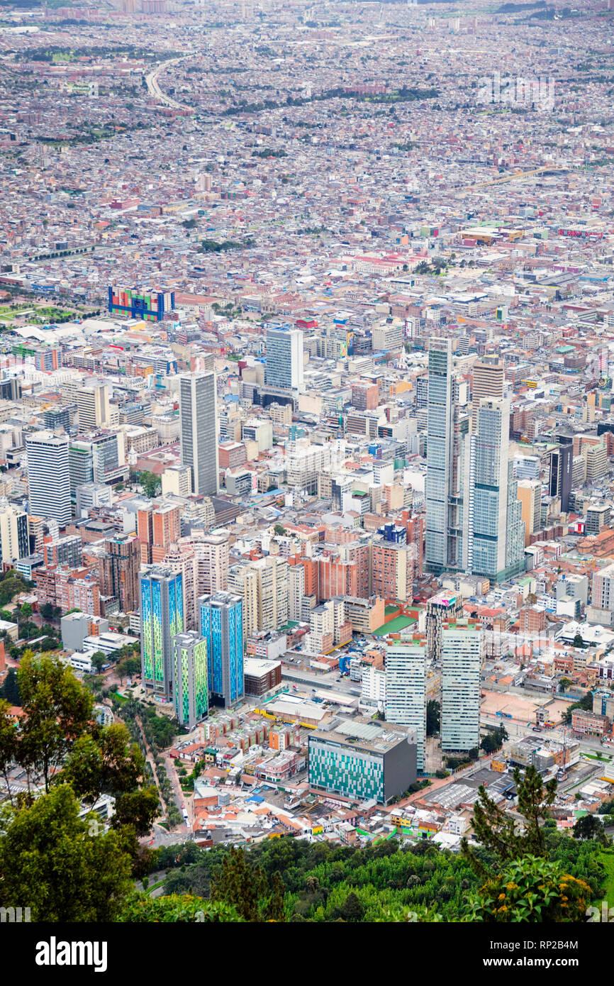 La Colombia, Bogotà, il quartiere centrale degli affari della capitale Immagini Stock