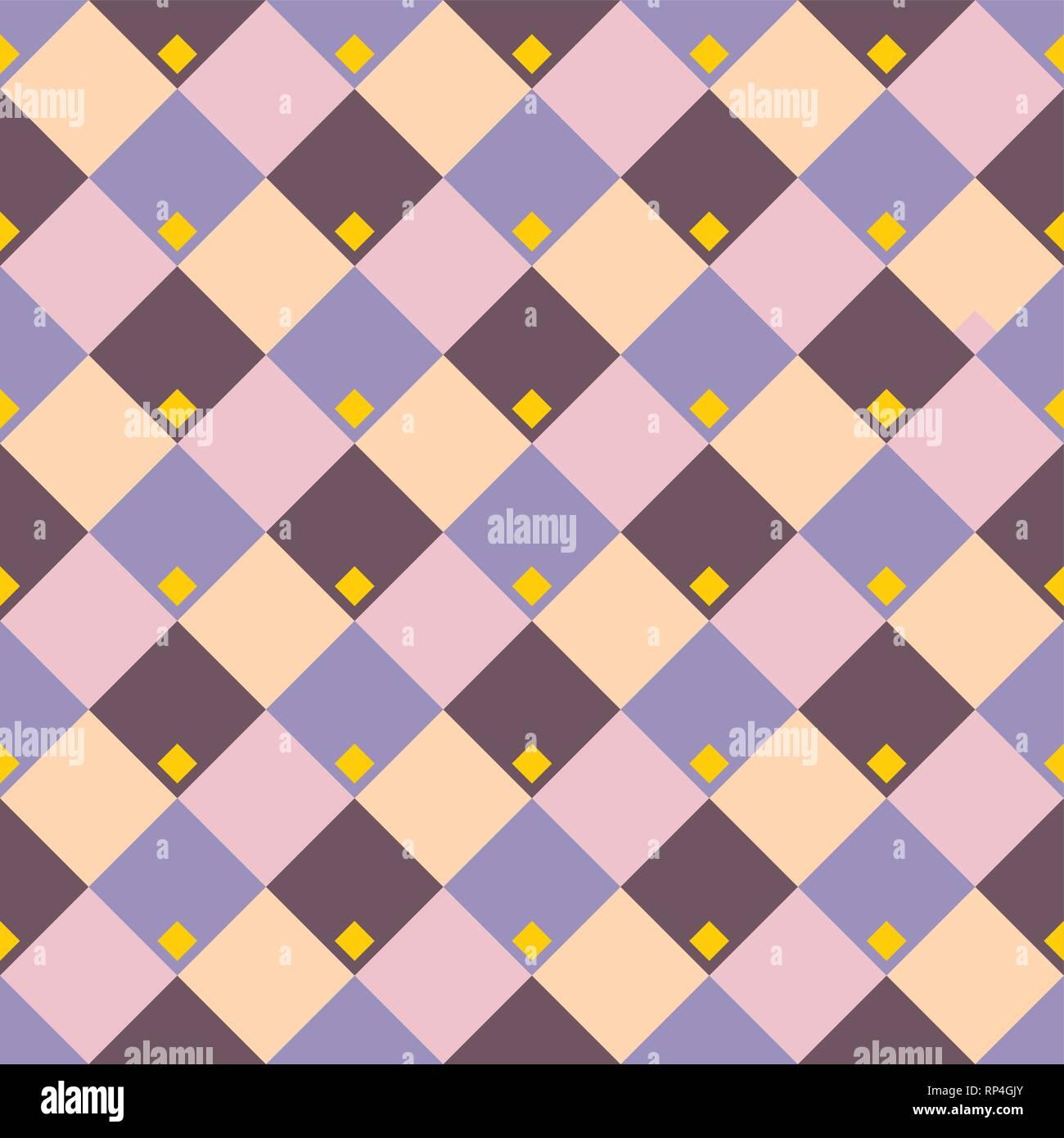 Geometrica astratta rhombus seamless pattern. Colore sfondo del vettore. Illustrazione Vettoriale
