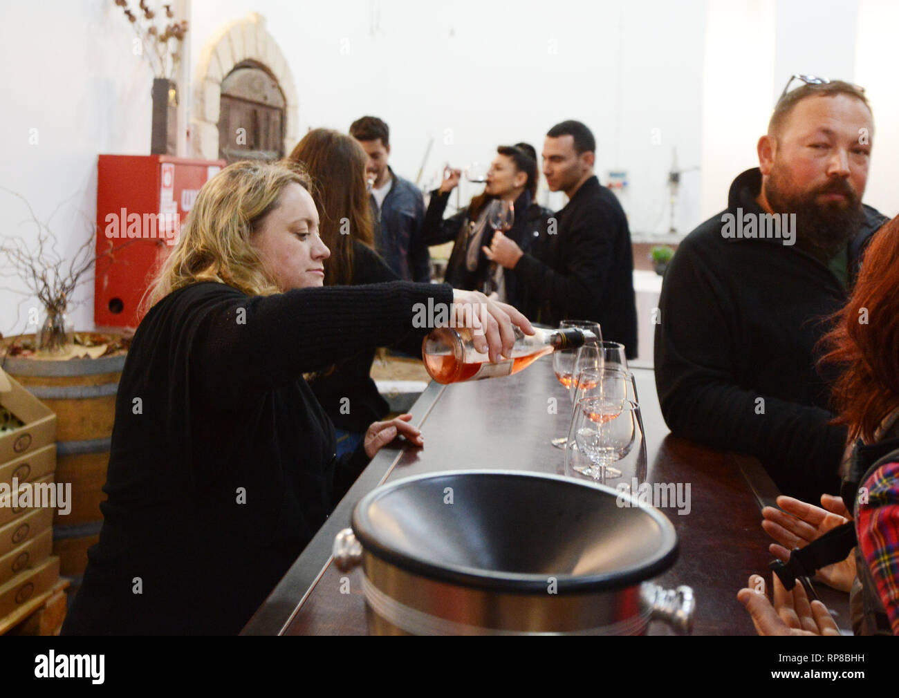 Château Golan winery in alture del Golan. Immagini Stock