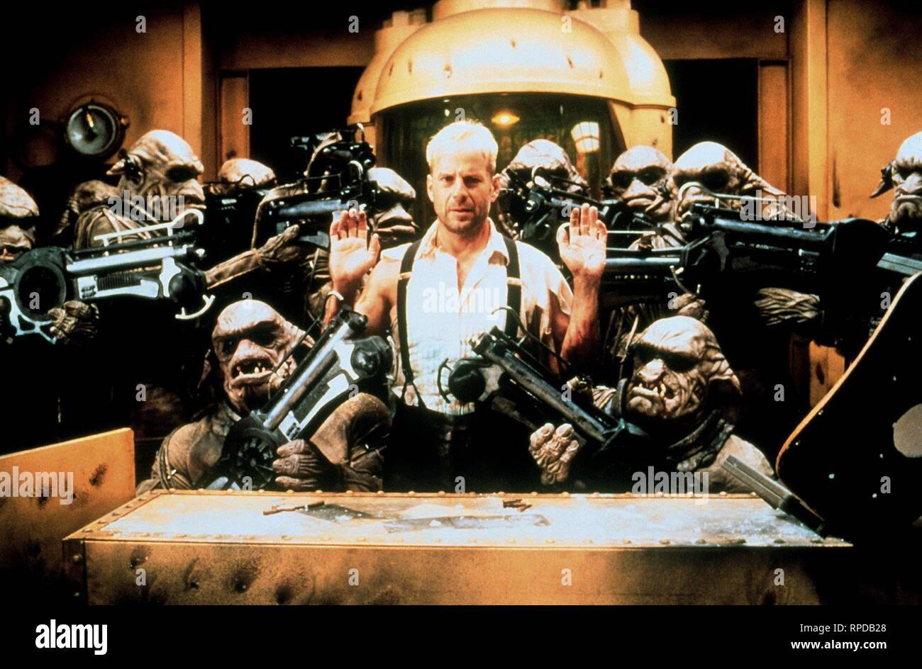 BRUCE WILLIS, il quinto elemento, 1997 Immagini Stock