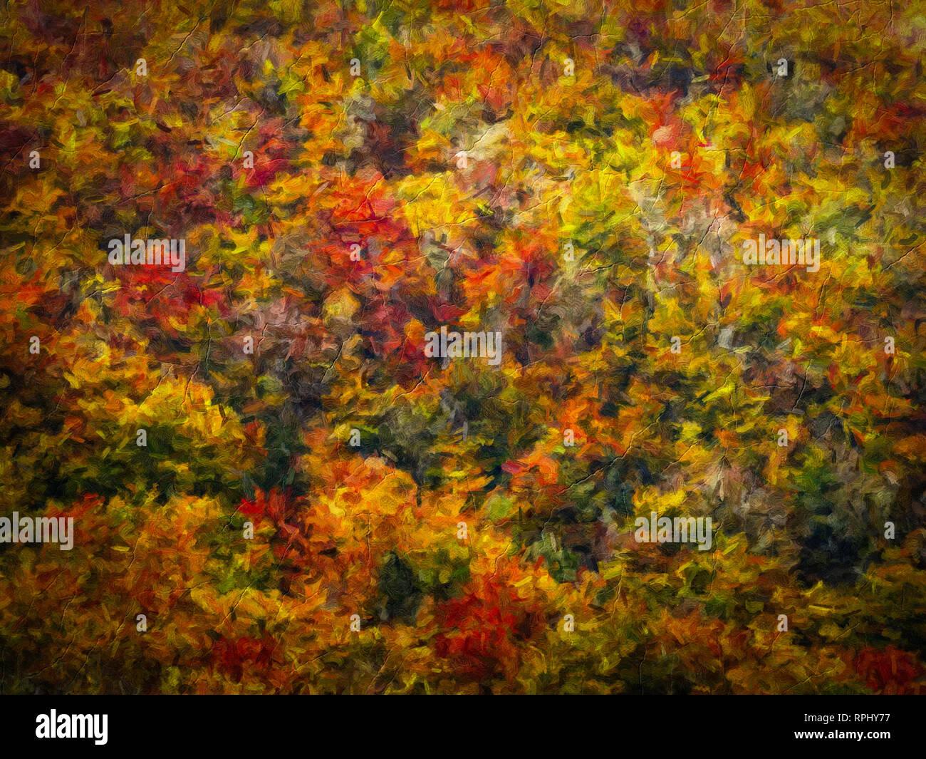 Abstract digital il dipinto a olio su tela piena di consistenza e colore brillante Immagini Stock