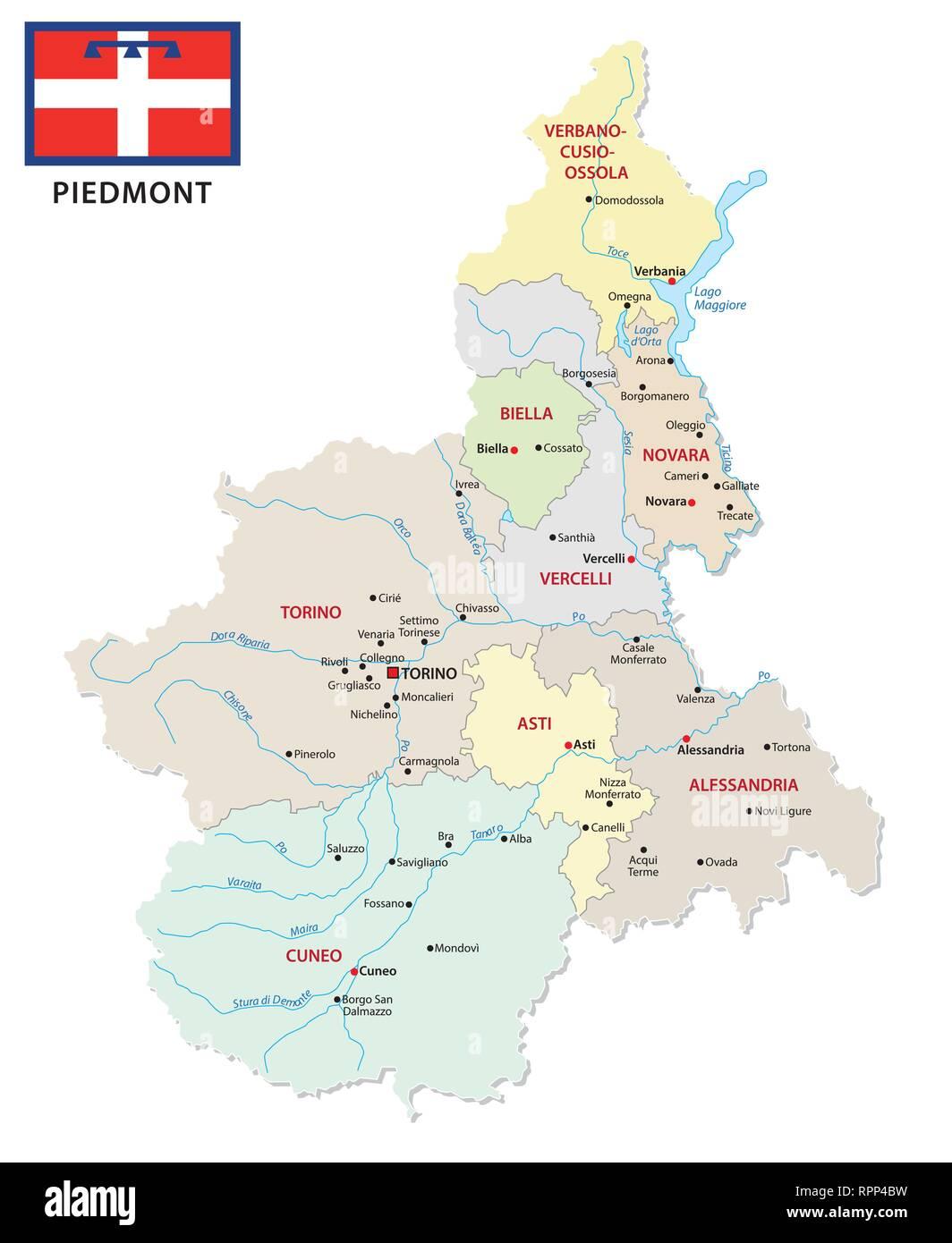 Cartina Dettagliata Piemonte.Mappa Di Torino Immagini E Fotos Stock Alamy
