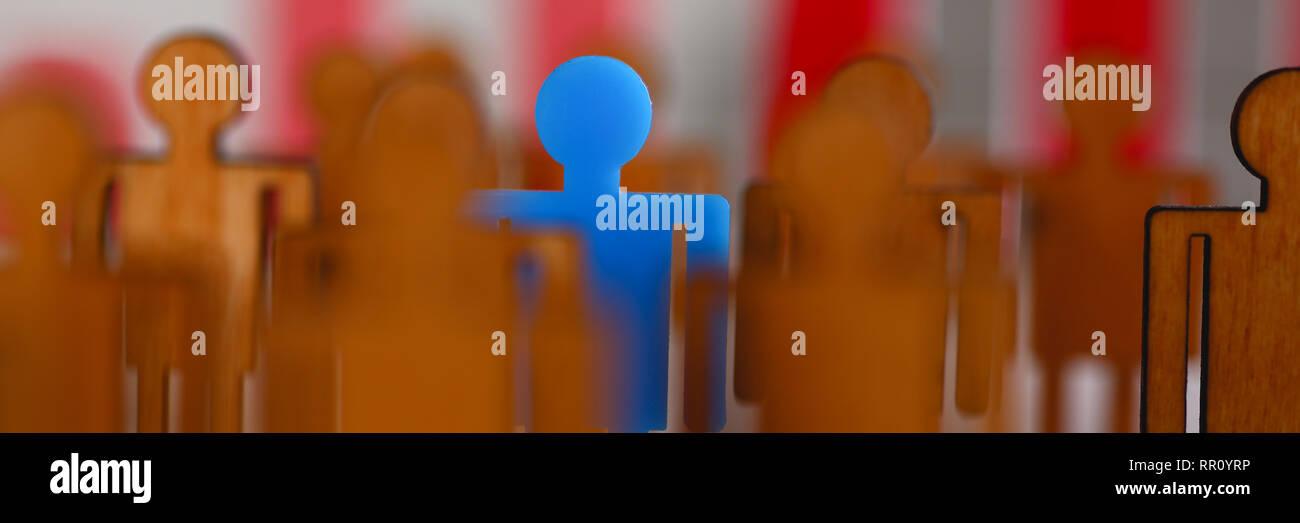 Piccolo blu in plastica il personaggio giocattolo spiccano Immagini Stock