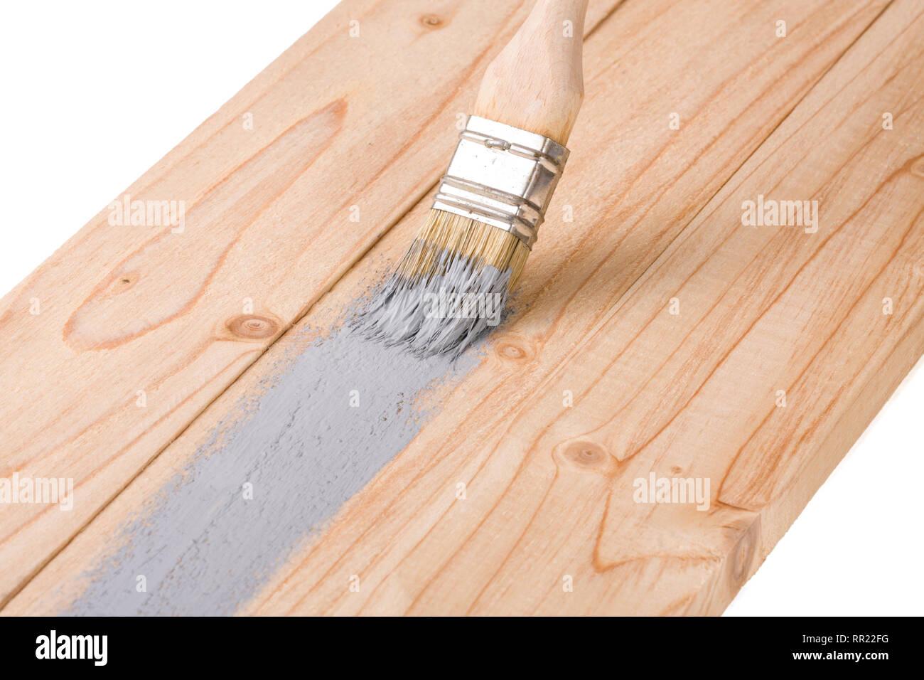 Colori Vernici Legno : Verniciatura pannello di legno spazzola di vernice di colore