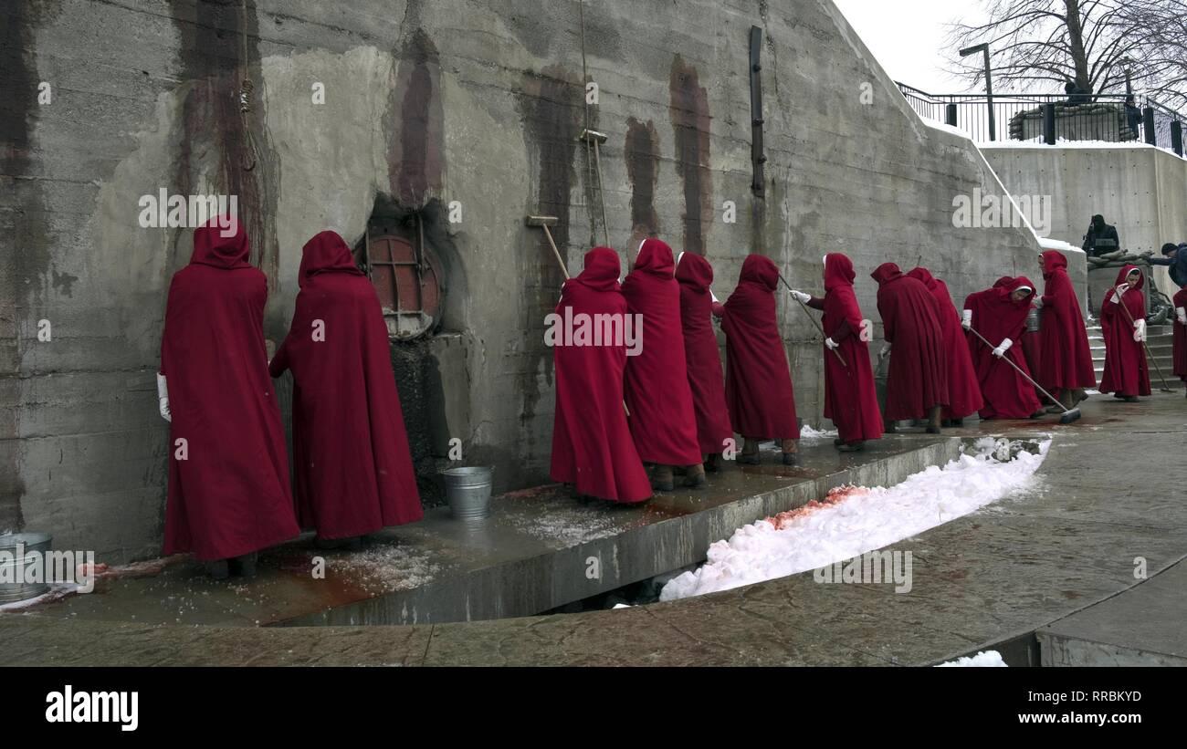 L Ancella del racconto, schiave, 2017 Immagini Stock
