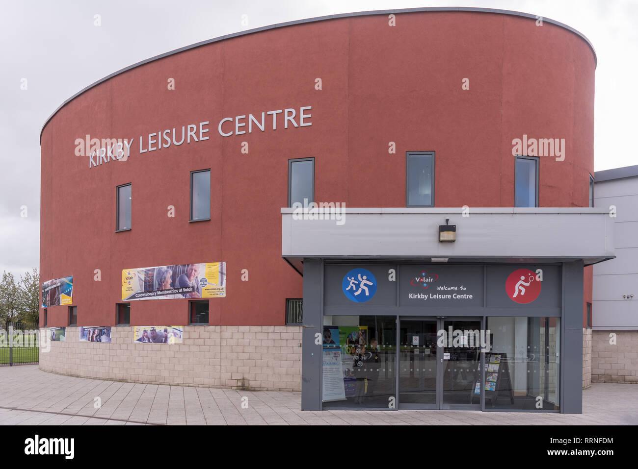 Kirkby Sport e tempo libero centro di apertura nuovo impianto di calcio.Knowsley consiglio. Immagini Stock