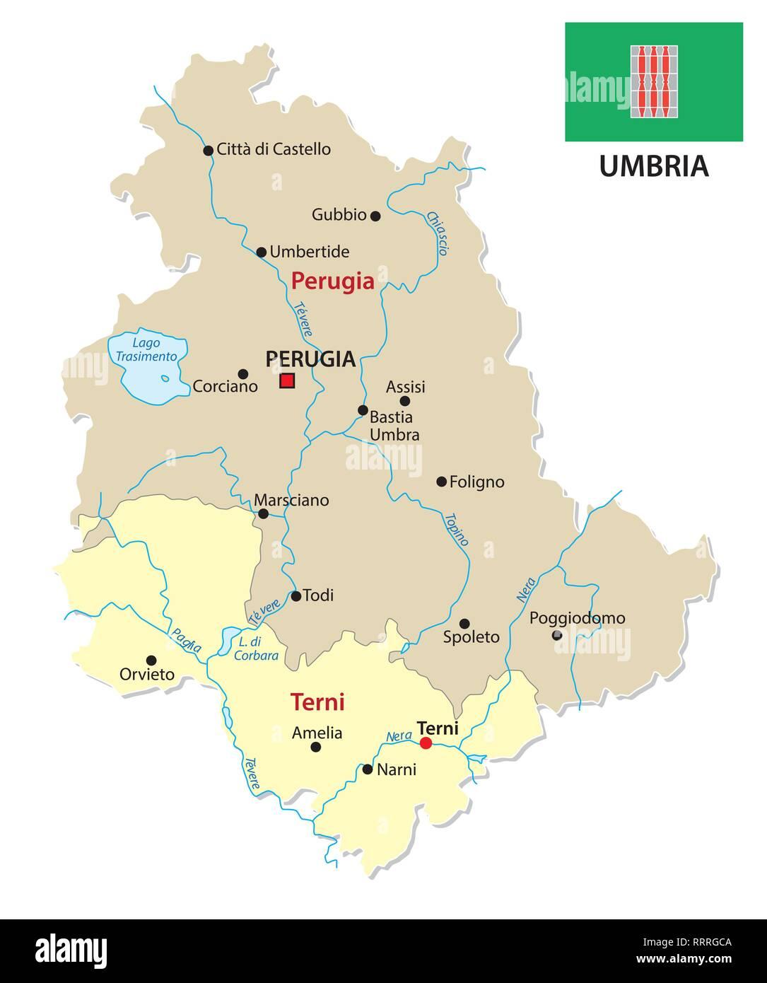 Umbria Cartina Geografica Fisica.Italia Politica E Amministrativa Di Mappa Immagine E Vettoriale Alamy
