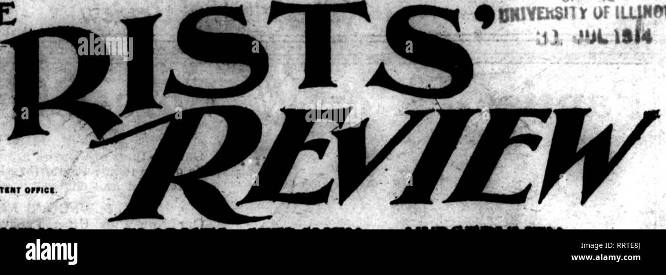 """. Fioristi' review [microformati]. Floricoltura. 01 lE ^OmVEhSiTY di iifimr RM."""". • MTiMT orriei. 61^ un settimanale ufficiale""""* fioristi. 5EEDSMEN ahd vivaisti. rUNnSTS* f""""UMJ""""INN"""" CO, SSft CutM BiMMtas. SIM Ommt AwMi%""""wm SU CNIGAmK Vol XXXIV. CHICAGO, luglio 30, J9l4. .^- PANSY SEMINA DI SIH HEDAL ORO PiWSY HKTORE ?!S:II^^££SS!ho presso l'International Horticultnrat mostra, beld al Orand palazzo centrale di New York City. Aprile, 1918. Questa splendida miscela è la ri-ult di anni di scrupolosa selezione da parte del Sig. William Sim (rinomata per i piselli dolci), Cliftondale, Massachusetts, apd siamo Immagini Stock"""