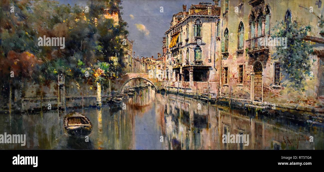 Canale veneziano da Reyna Manescau, Antonio María 1859 - 1937 Spagnolo SPAGNA Foto Stock