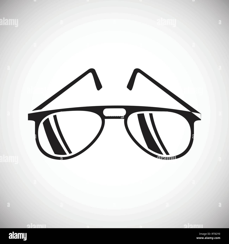 Icona Degli Occhiali Su Sfondo Bianco Per Grafica E Web Design