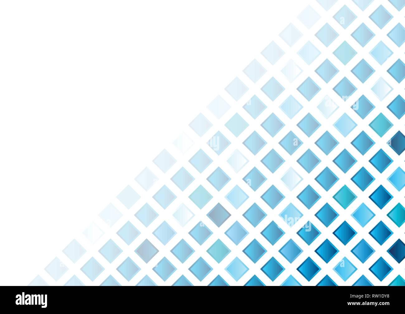 Blu Piazze Geometrico Astratto Mosaico Tech Sfondo Il Design Del