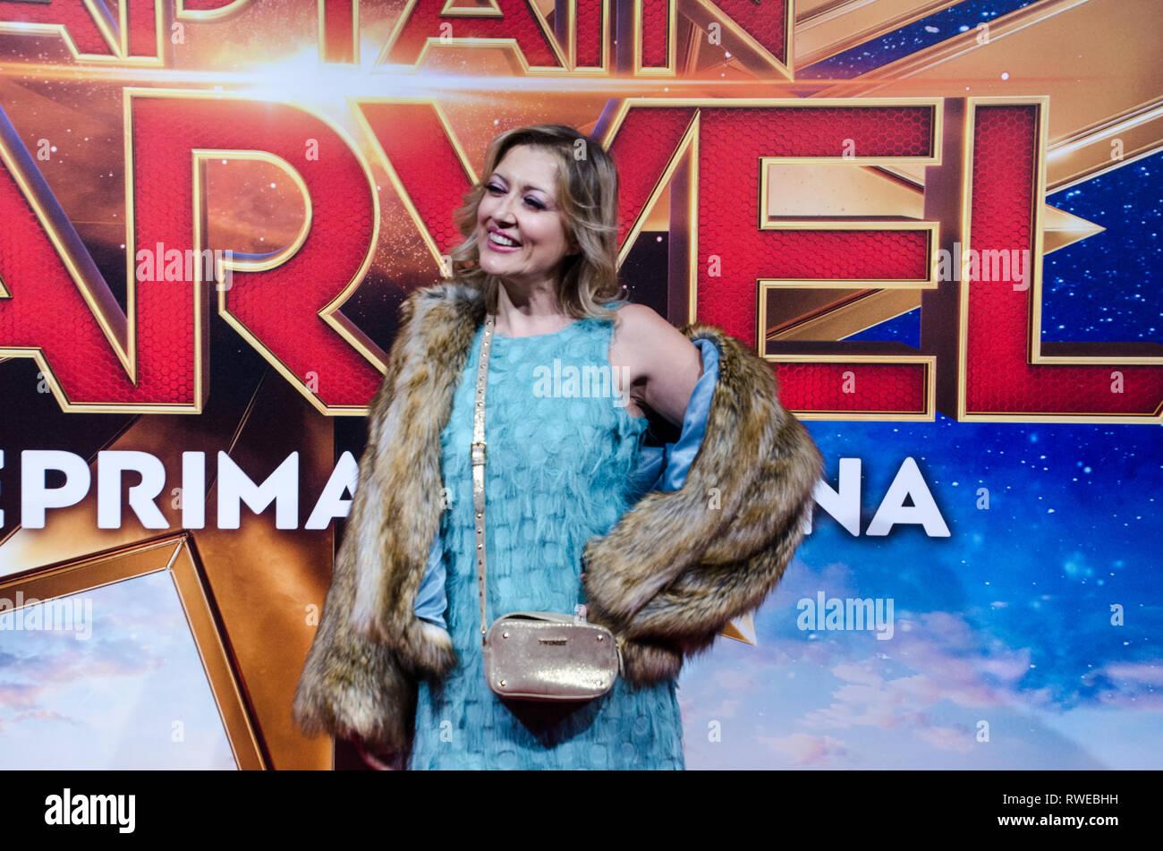 Rosaria Renna al capitano Marvel premiere red carpet, a Fabrique. Milano, 5 marzo 2019 Immagini Stock