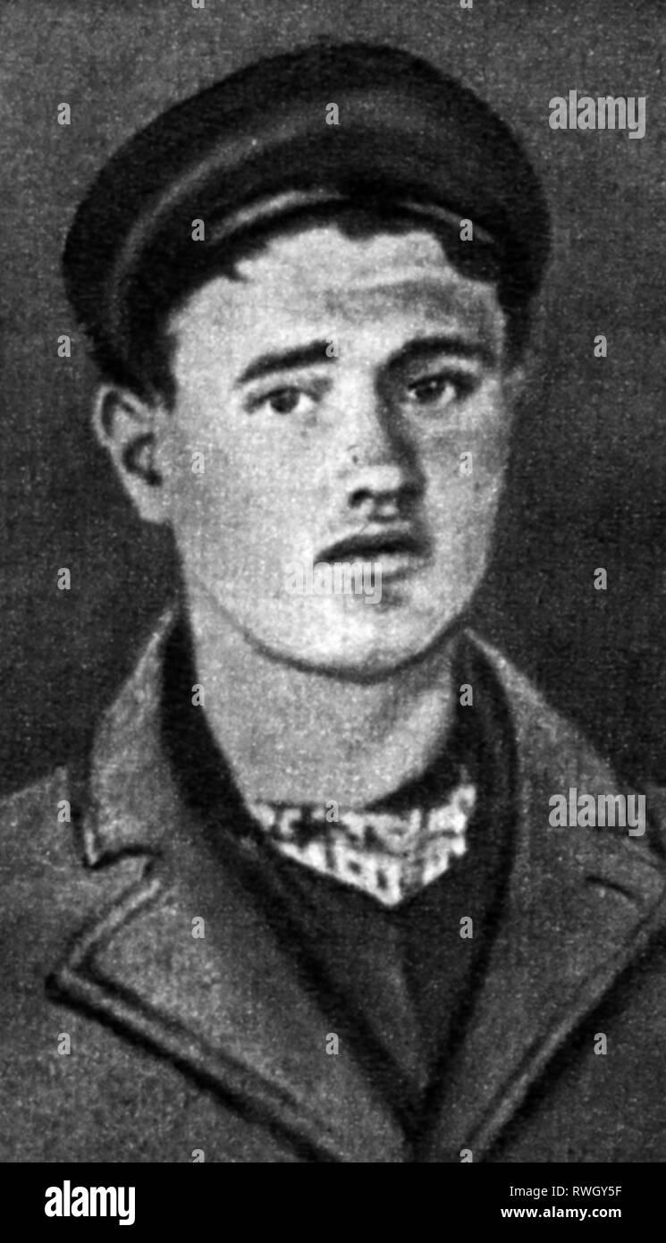 Kuerten, Pietro, 26.5.1883 - 2.7.1931, criminale tedesco (serial killer), il sospetto temporaneamente malati mentali lavoratore Johann Stausberg, ritratto, aprile 1929, Additional-Rights-Clearance-Info-Not-Available Immagini Stock
