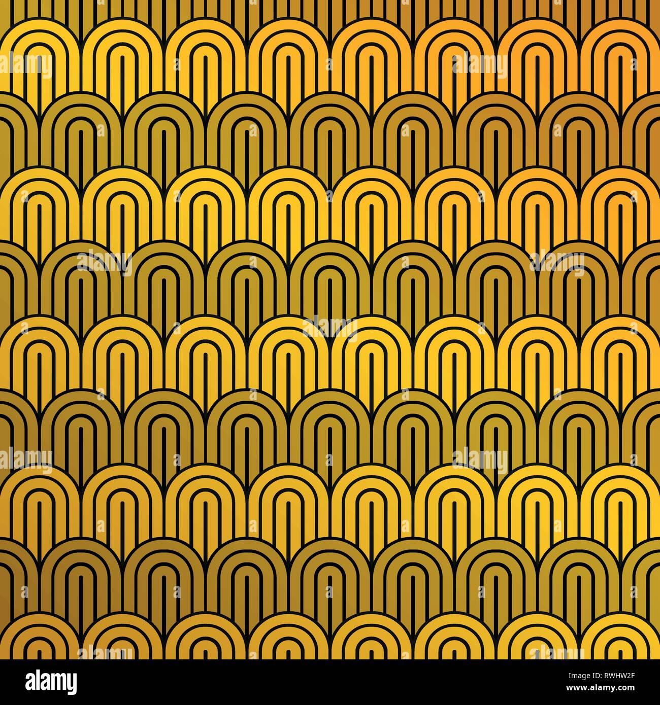 8fc588bcd3 Abstract di lusso giallo senape e il modello nero del modello di cerchio di  sfondo.