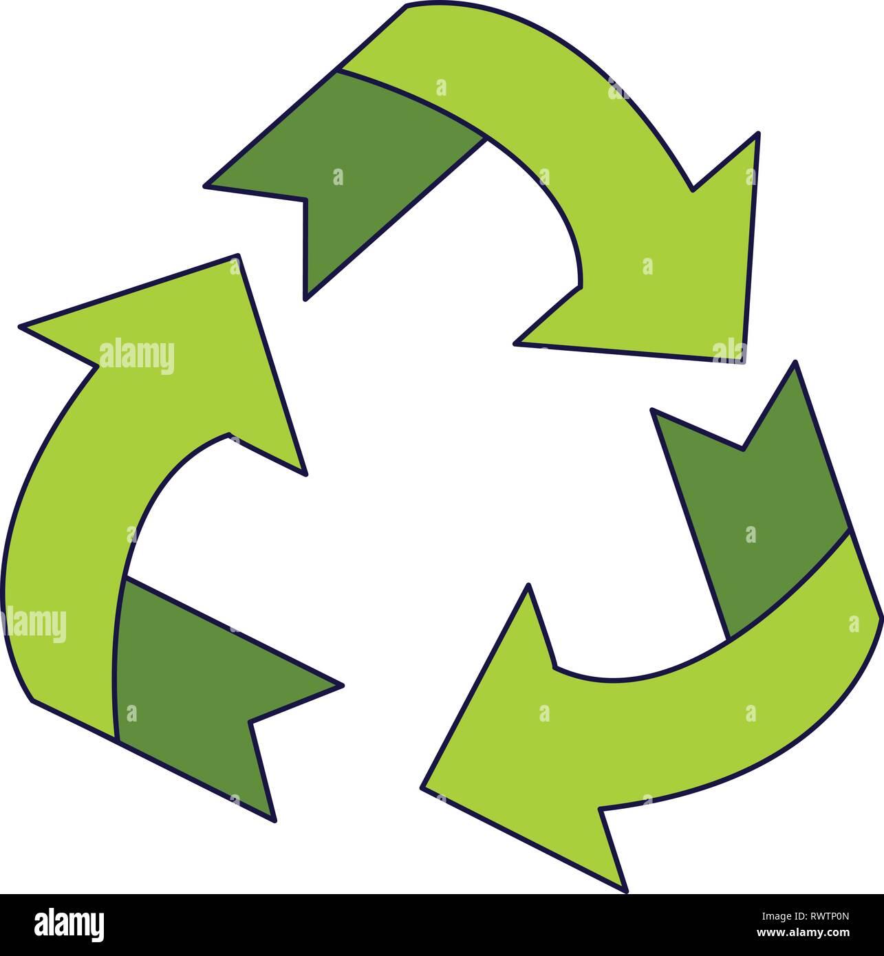Riciclare ridurre riutilizzare il simbolo Immagini Stock