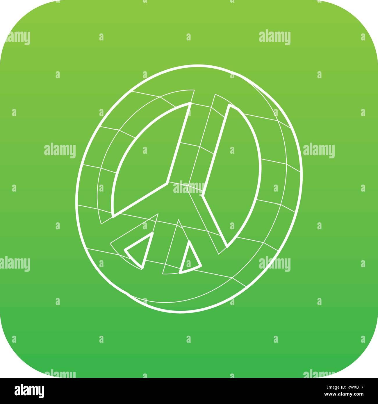 Simbolo del Pacifico, l'icona di stile di contorno Immagini Stock