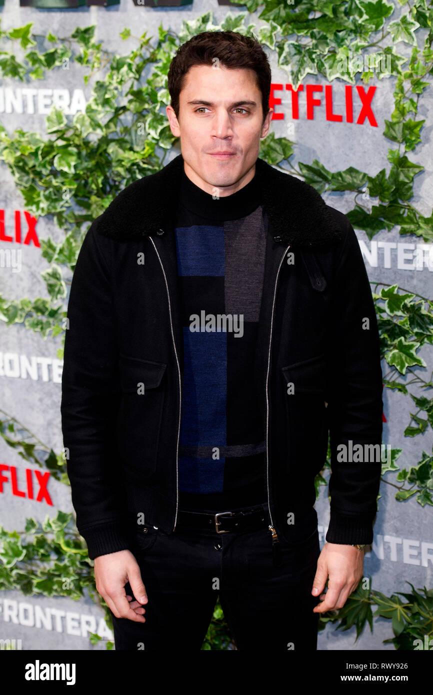 Alex Gonzalez alla premiere del film di Netflix 'Triple frontera / Triple frontiera' Cine a Callao. Madrid, 06.03.2019 | Utilizzo di tutto il mondo Immagini Stock
