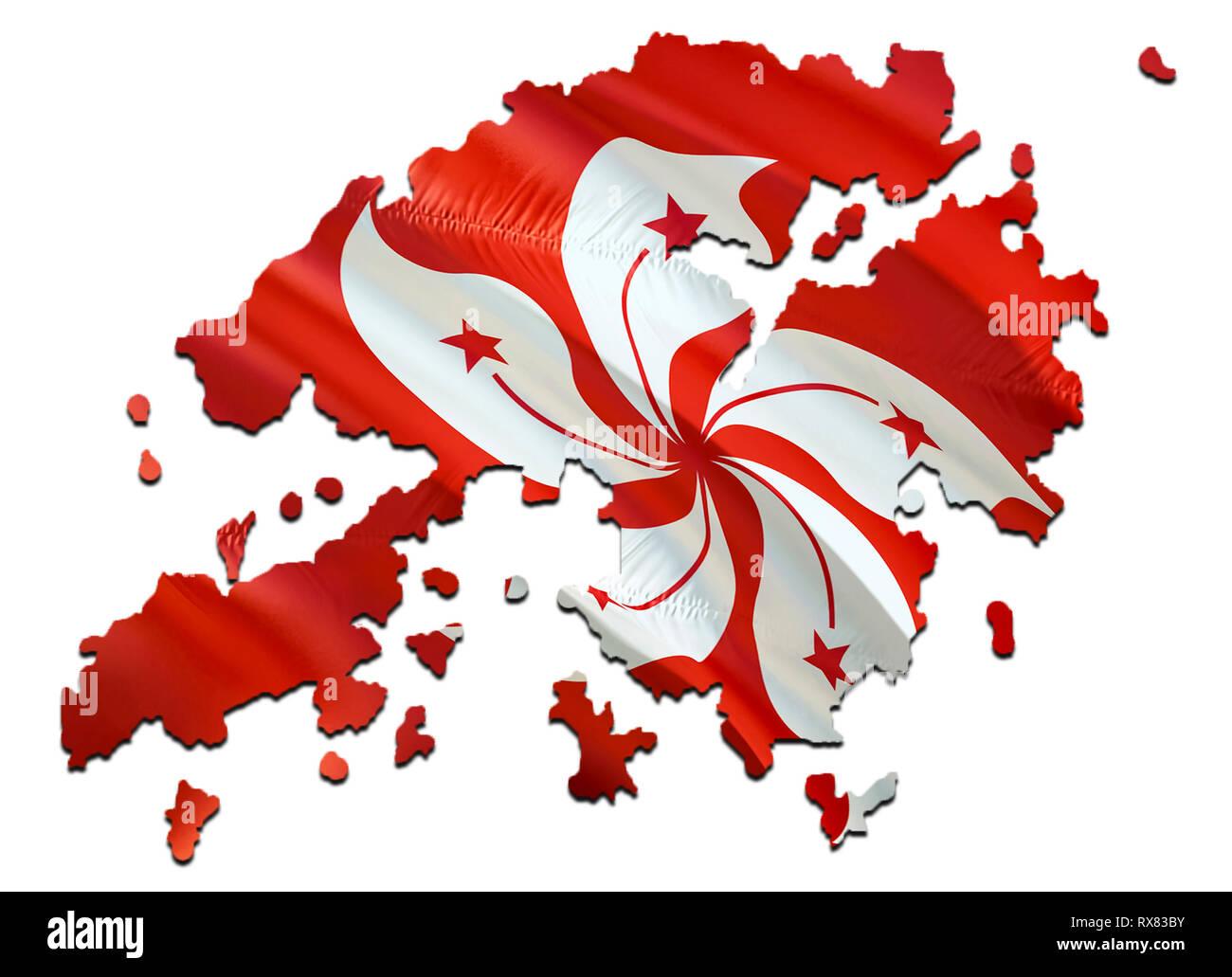 Cartina Hong Kong.Mappa Su Hong Kong Sventola Bandiera 3d Rendering Hong Kong Mappa E Sventola Bandiera Su Asia Mappa Il Simbolo Nazionale Di Hong Kong Hong Kong Bandiera Su Asia Backgro Foto Stock