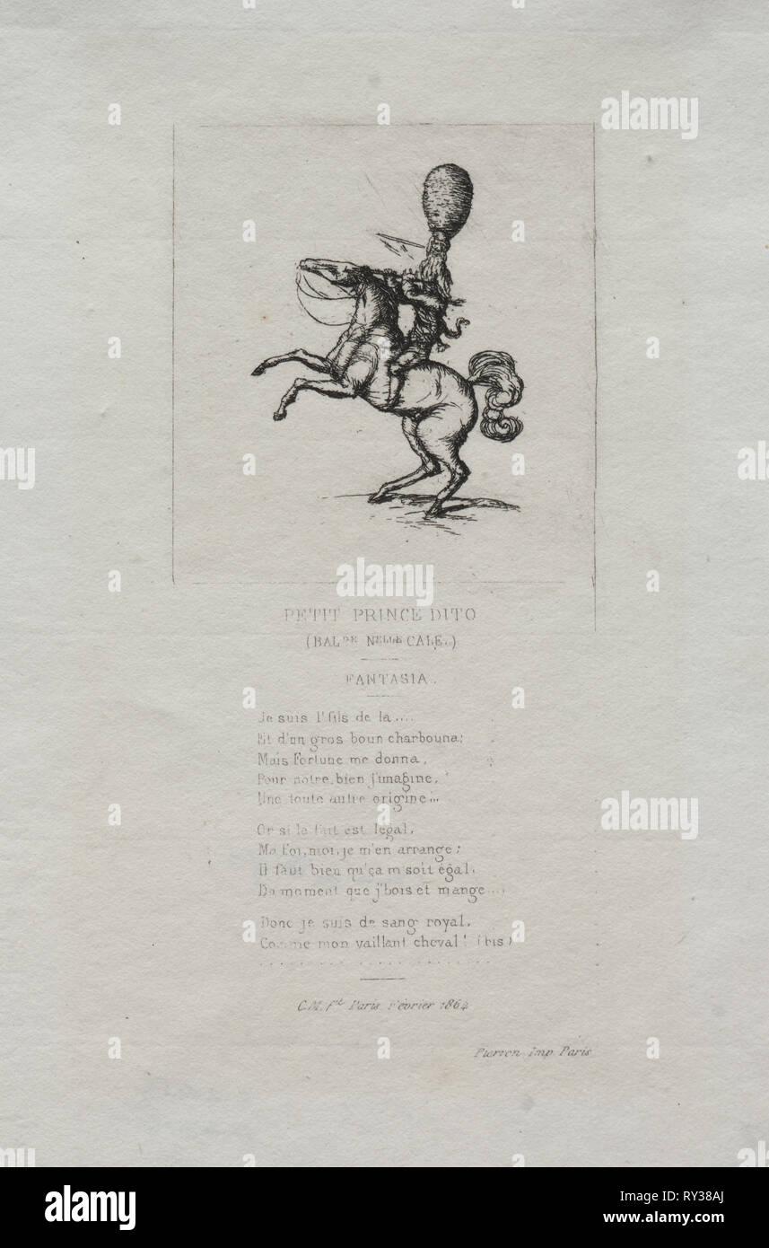Piccolo Principe dito, 1864. Charles Meryon (Francese, 1821-1868). Attacco Immagini Stock