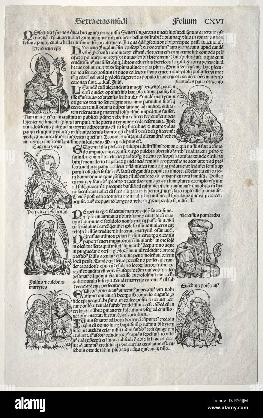 Cronaca di Norimberga, 1493. Michael Wolgemut (Tedesco, 1434-1519). Xilografia Immagini Stock