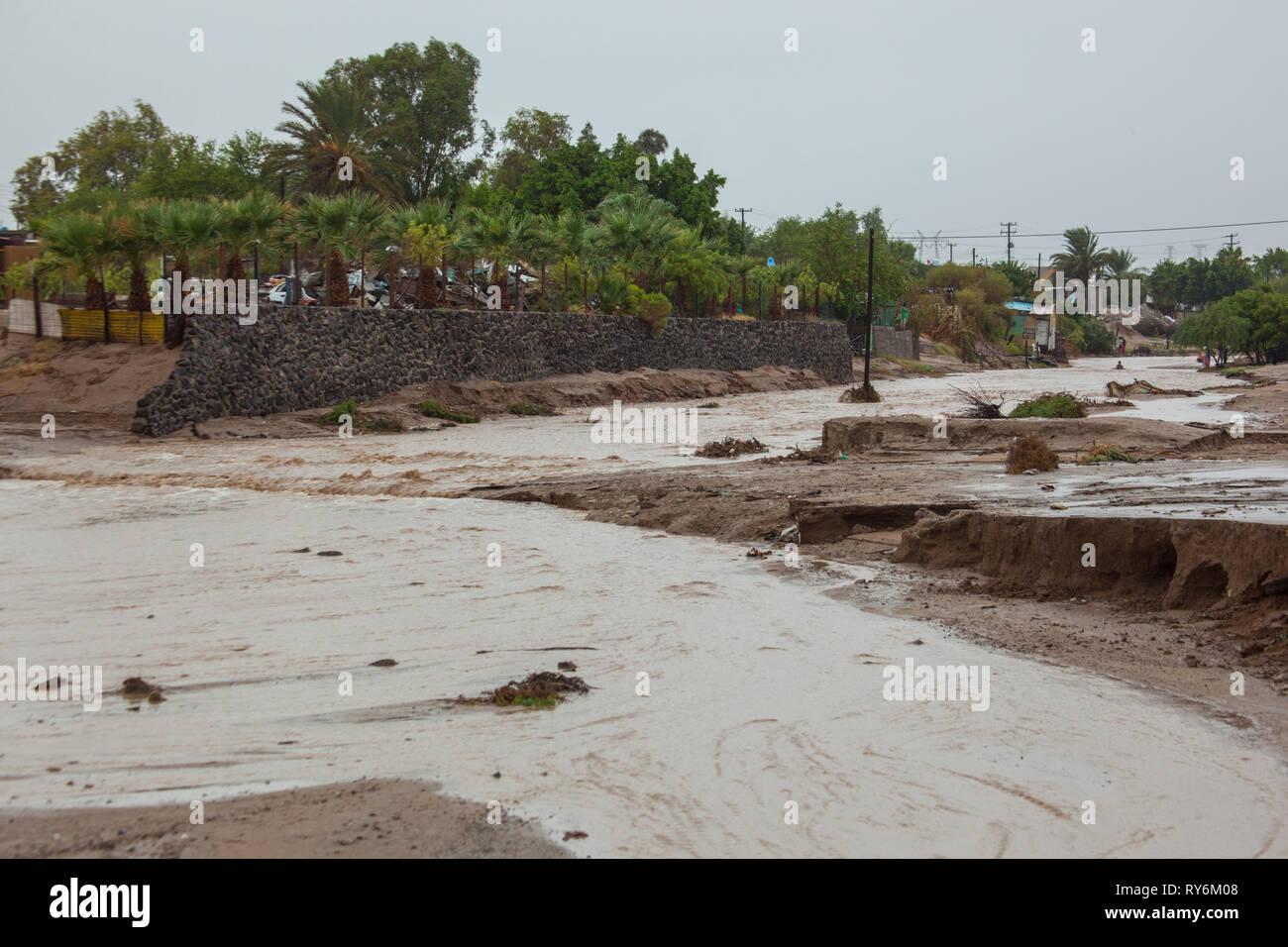 Puerto Libertad, MPO. Pitiquito, Sonora, Messico Immagini Stock