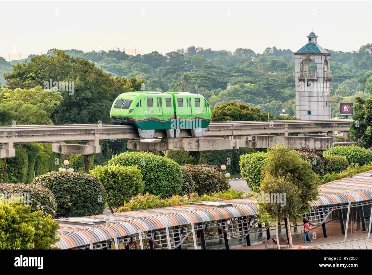 Il Sentosa Express isola treno monorotaia, Singapore | Sentosa Express Monorotaia Isola Zug, Singapur Immagini Stock
