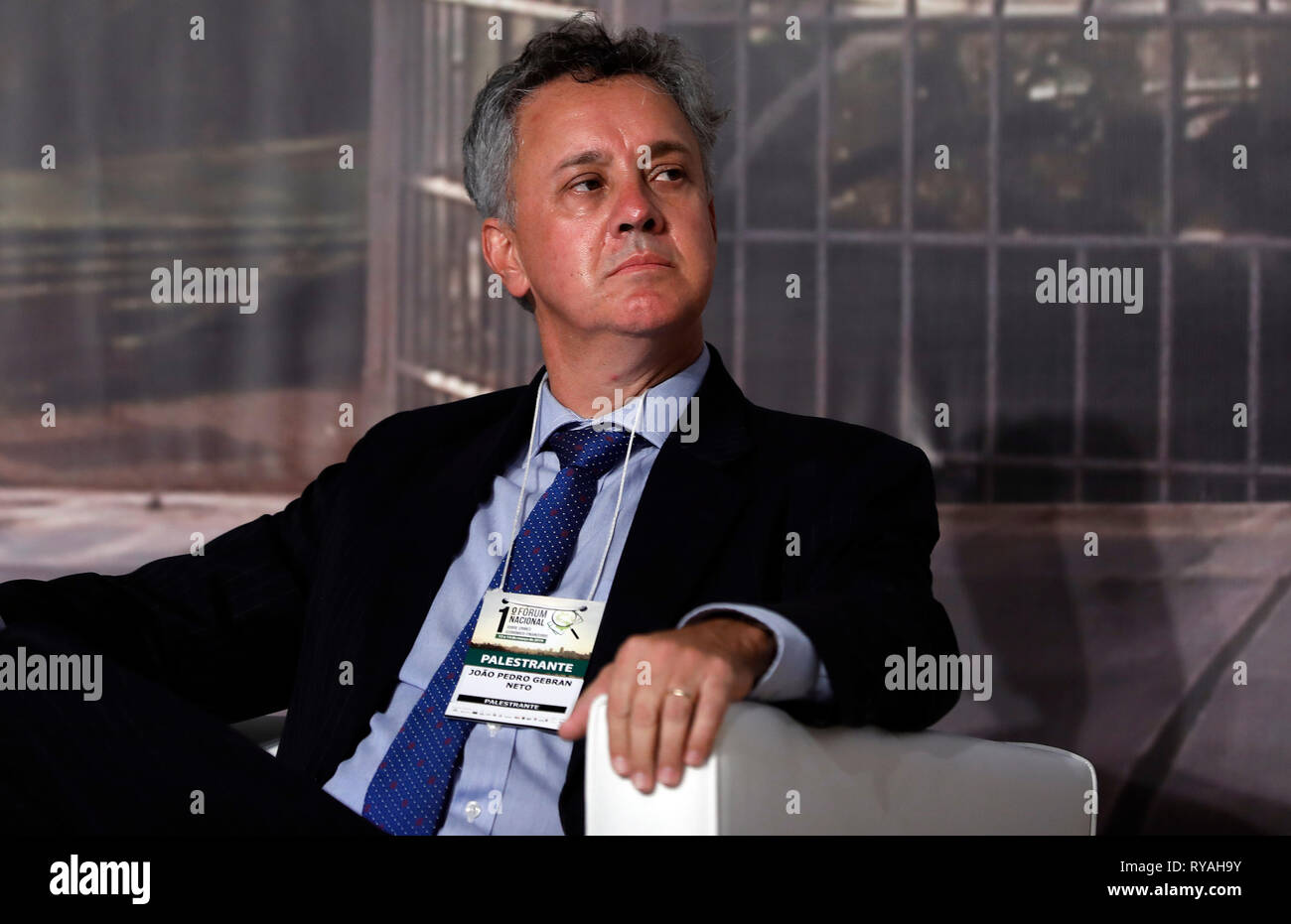 Curitiba, Brasile. Xii Mar, 2019. Crimini finanziari detenuti presso l Università di positivo a Curitiba, PR. Credito: Rodolfo Buhrer/La/Imagem FotoArena/Alamy Live News Immagini Stock