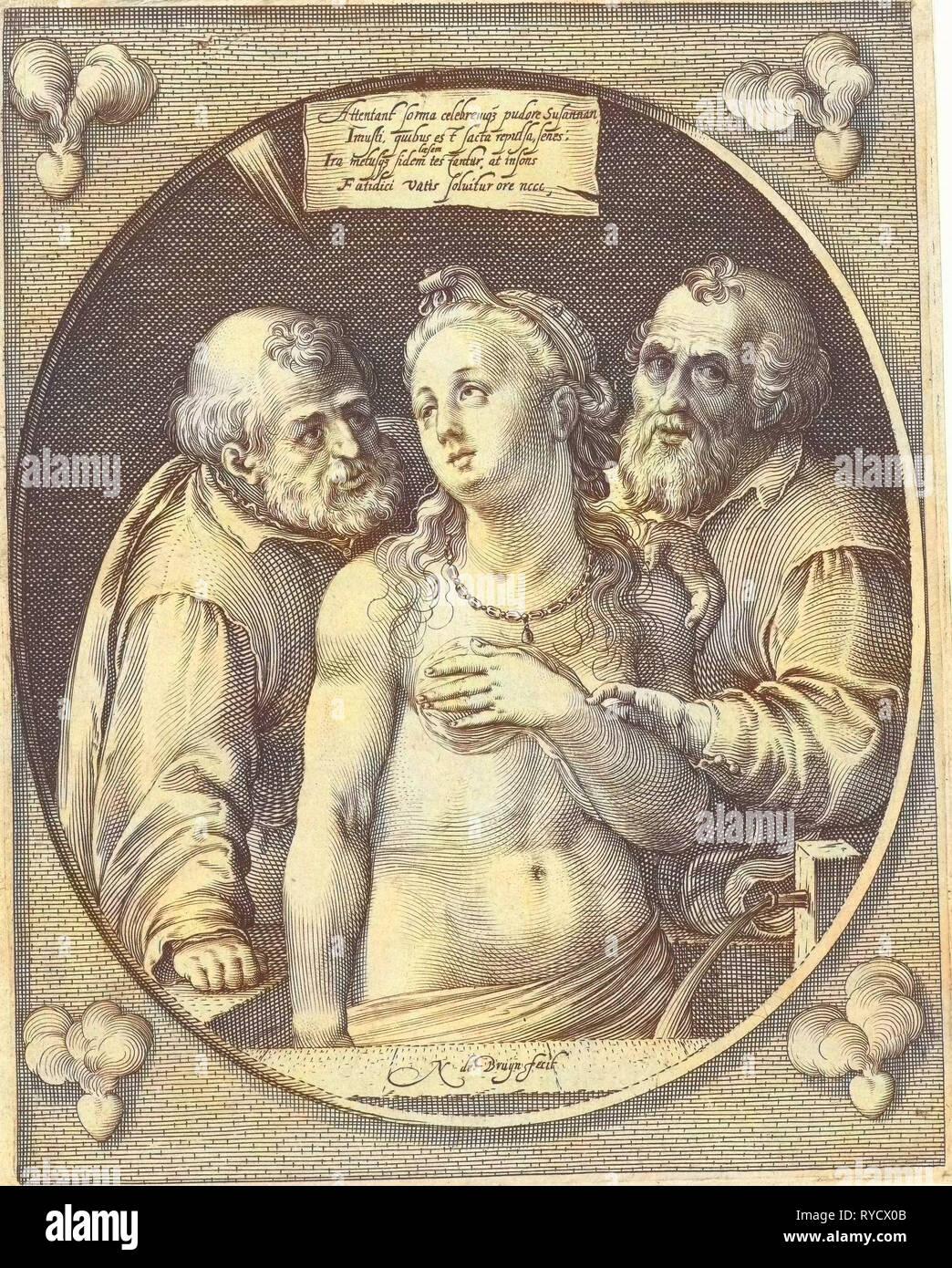 Susanna e i due anziani nicolaes de bruyn 1581 1656 immagini stock