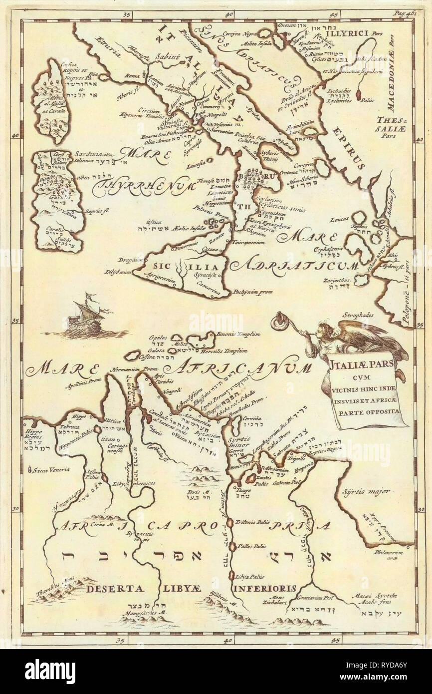 Cartina Italia E Nord Africa.Mappa Di Italia E Parte Del Nord Africa Jan Luyken