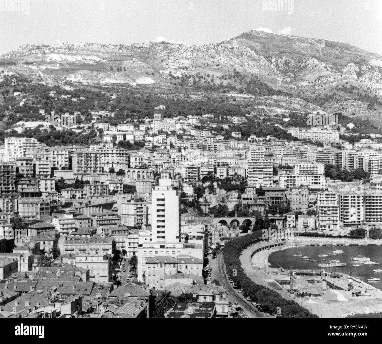 Geografia / viaggi, Monaco, visualizzare Quartier du Porte e Monte Carlo, 1961, Additional-Rights-Clearance-Info-Not-Available Foto Stock