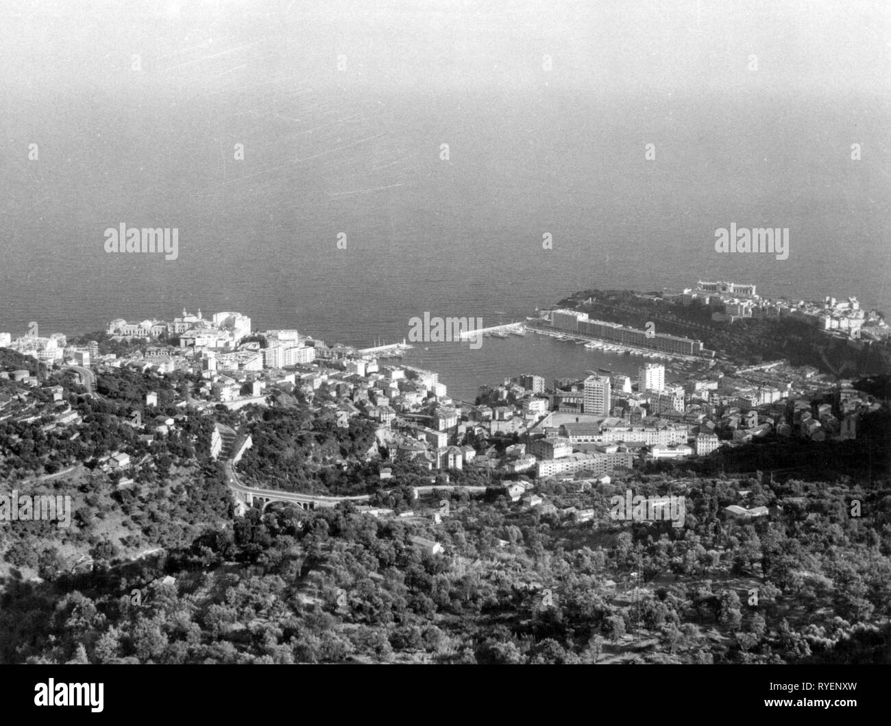 Geografia / viaggi, Monaco, panoramica, 1961, Additional-Rights-Clearance-Info-Not-Available Immagini Stock