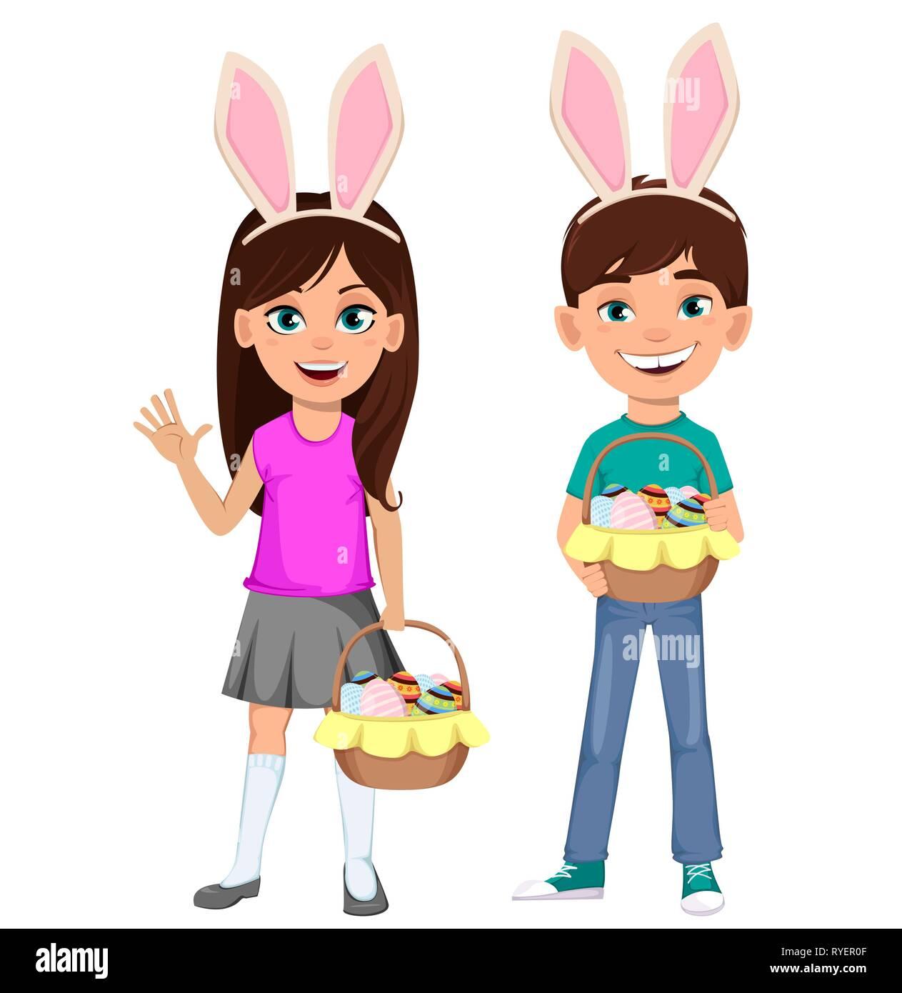 Acquista pz tela pasqua cestino orecchie da coniglio buona