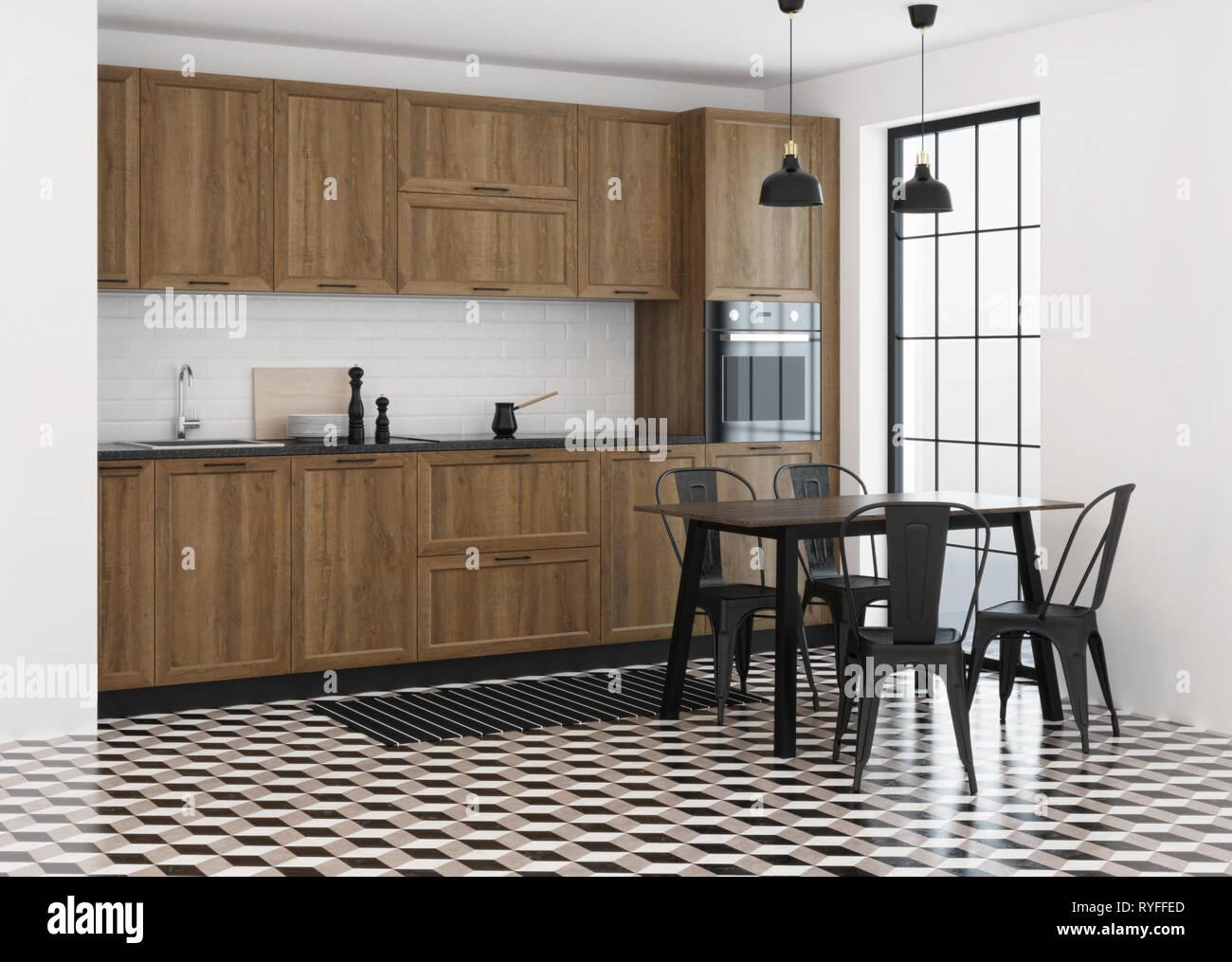 Cucina arredamento in stile moderno. Il rendering 3D Foto & Immagine ...