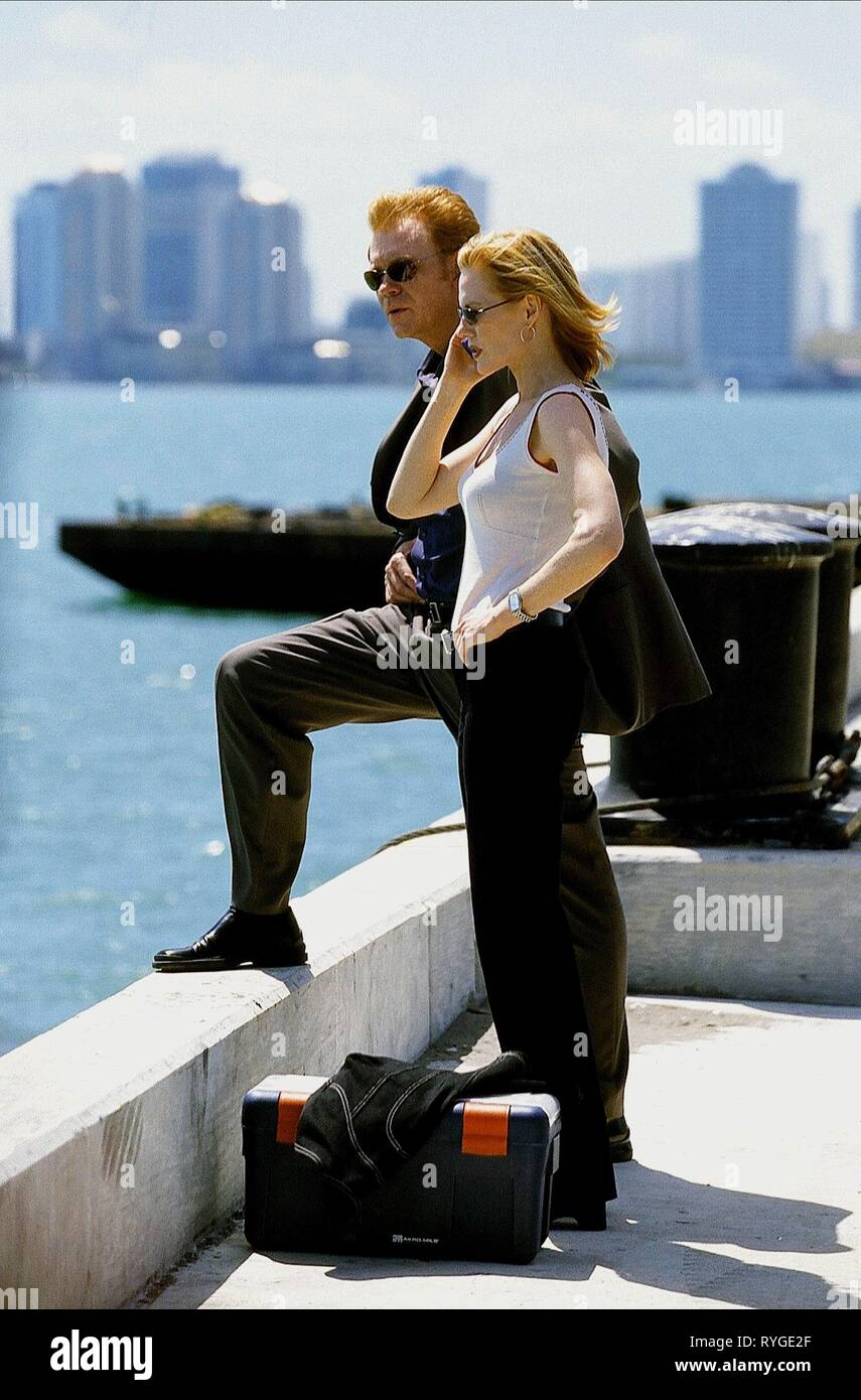 DAVID CARUSO, MARG HELGENBERGER CSI: Miami, 2002 Immagini Stock