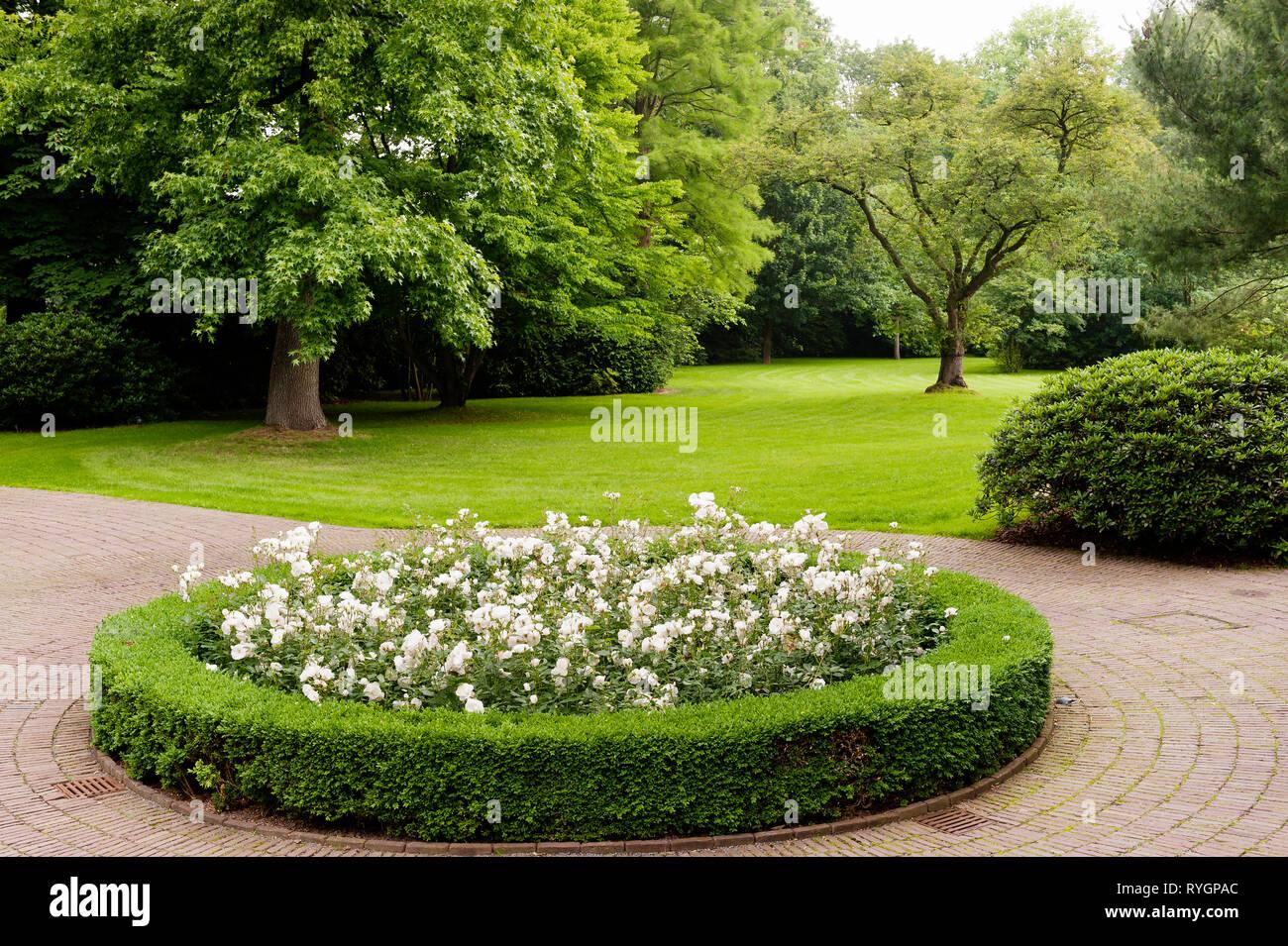 Circolare letto di fiori Immagini Stock
