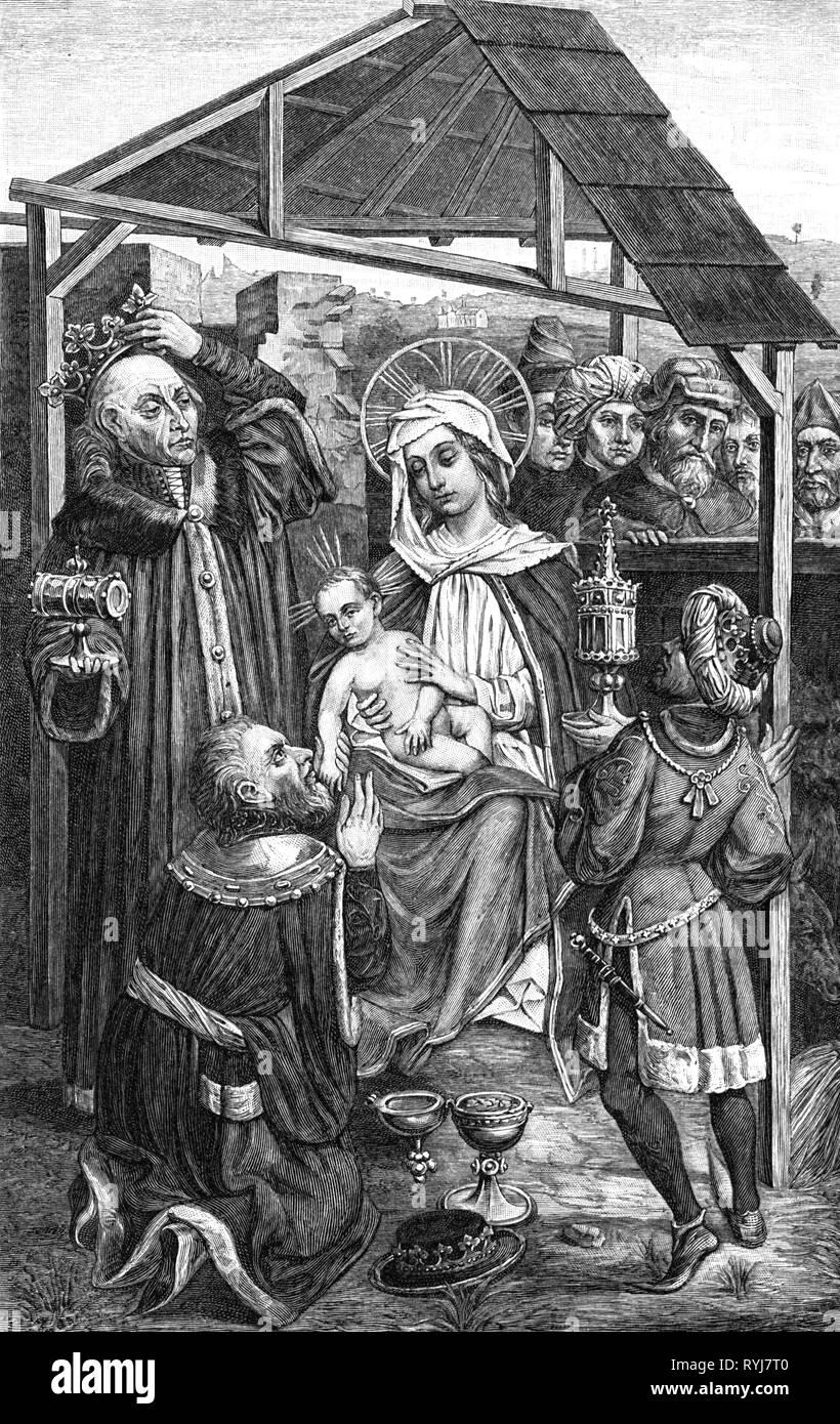 d576a2b480c6 La religione, il cristianesimo, tre re, sinistra Wladyslaw II Jagiello, re  di