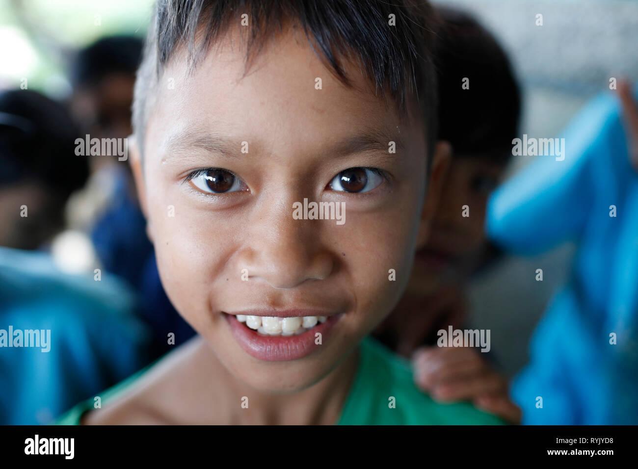 La minoranza etnica bambino. Dalat. Il Vietnam. Immagini Stock