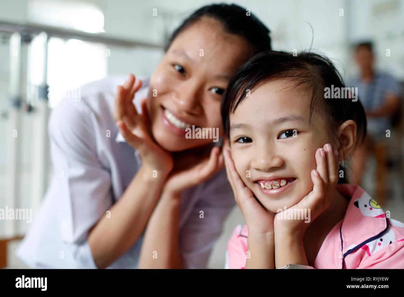 Tradizionale vietnamita medicina clinica. Cu Chi. Il Vietnam. Immagini Stock